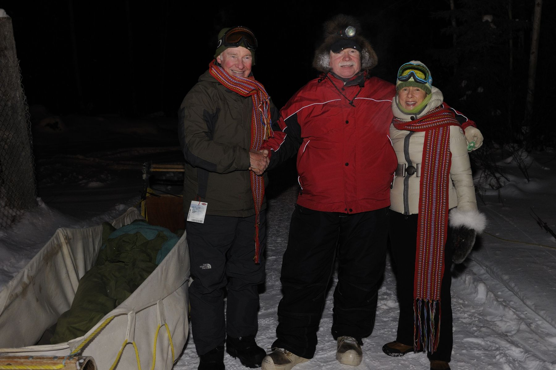 Their Excellencies also had the chance to participate in a traditional Métis dogsled ride, along with Mr. Beck of Beck's Kennels.