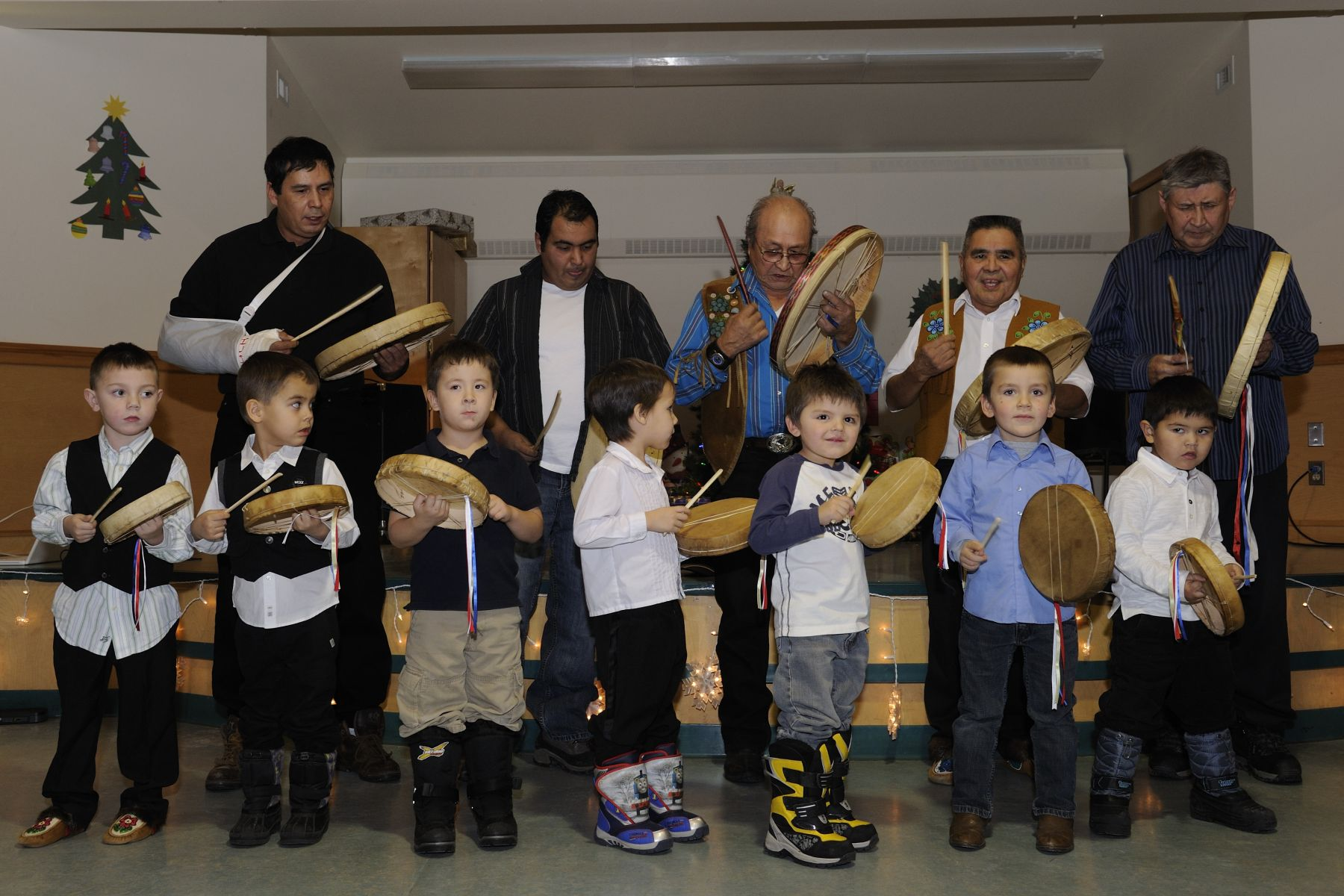 On this special occasion, they experienced the traditions and culture of the Dene community.