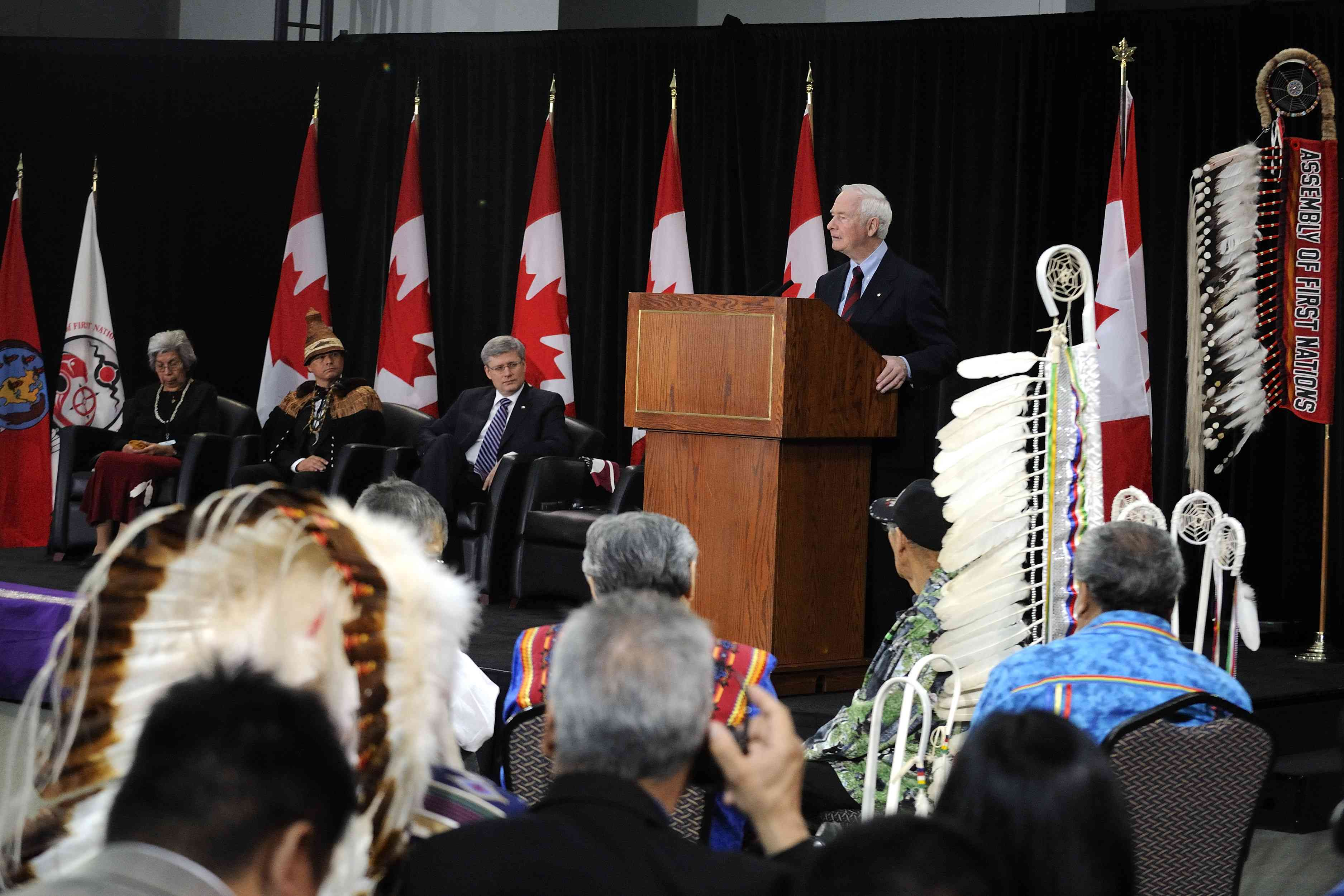"""I am inspired, and I am hopeful, seeing us here together. My hope is that this gathering will serve as the foundation for a renewed and strengthened relationship between the Crown and First Nations. By going back to first principles, we can work with greater confidence—together—to create a brighter future for our families, our communities and our country."""