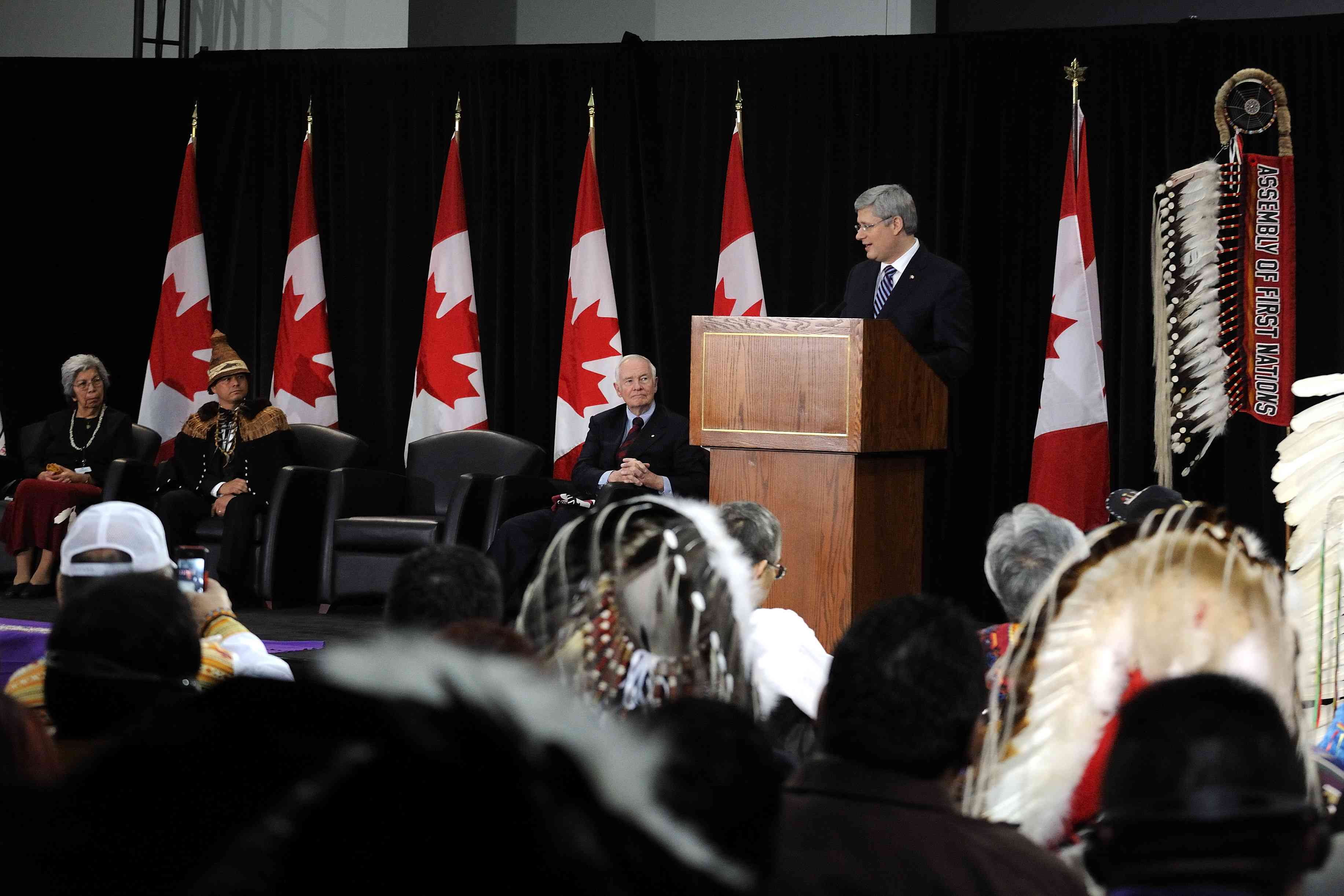 The Right Honourable Stephen Harper, Prime Minister of Canada, delivered an address.