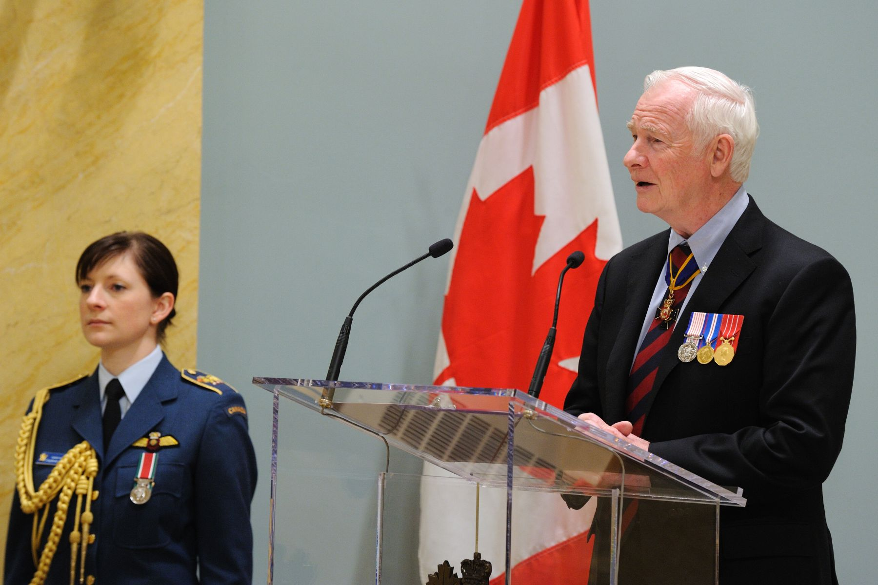 """Each of you has shown great courage and determination in the face of seemingly overwhelming odds,"" said His Excellency. ""You have tackled challenges of global importance. You have contributed greatly to the safety of people at home and abroad. And you have played an essential role in shaping how the Canadian Forces are perceived."""