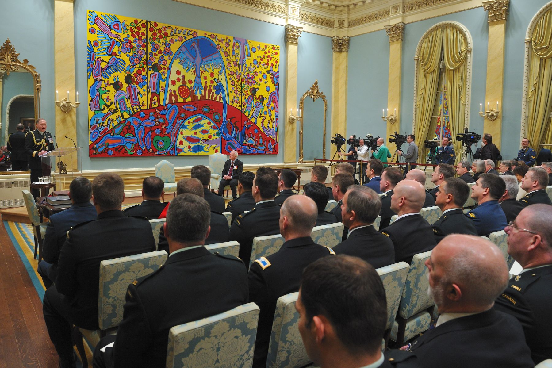 The Governor General presents honours and awards on behalf of all Canadians to recognize those people who have demonstrated excellence, courage or exceptional dedication to service in ways that bring special credit to this country.