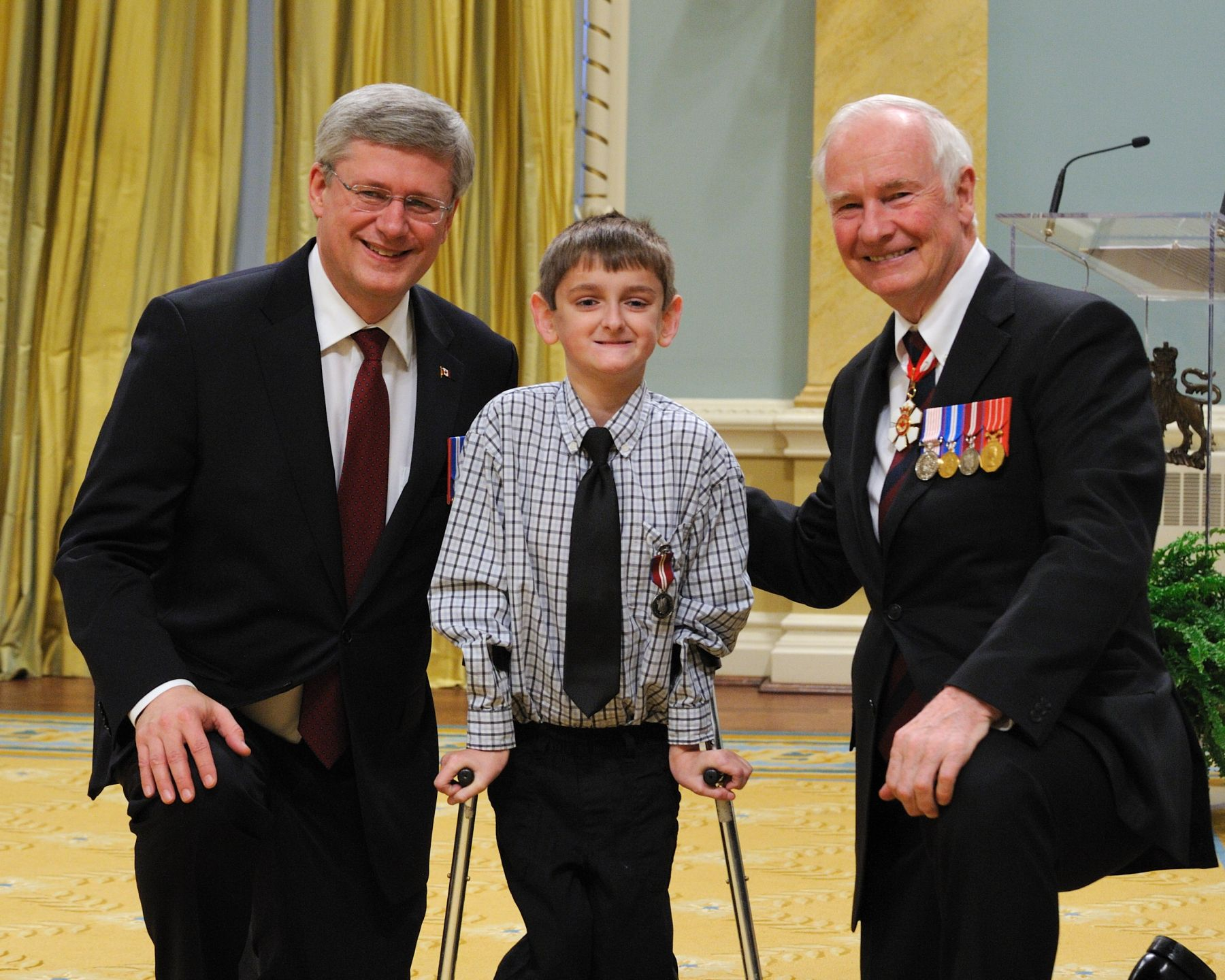 Bryden Hutt (Yarmouth, Nova Scotia) was recognized for his dedication to and efforts in support of the Children's Wish Foundation.