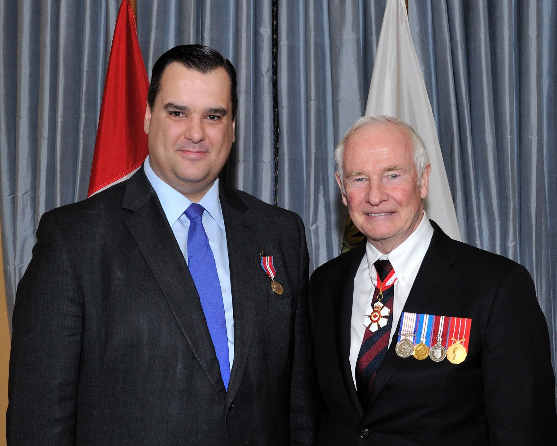 In the afternoon, the Diamond Jubilee Medal was also presented to the Honourable James Moore, Minister of Canadian Heritage and Official Languages.