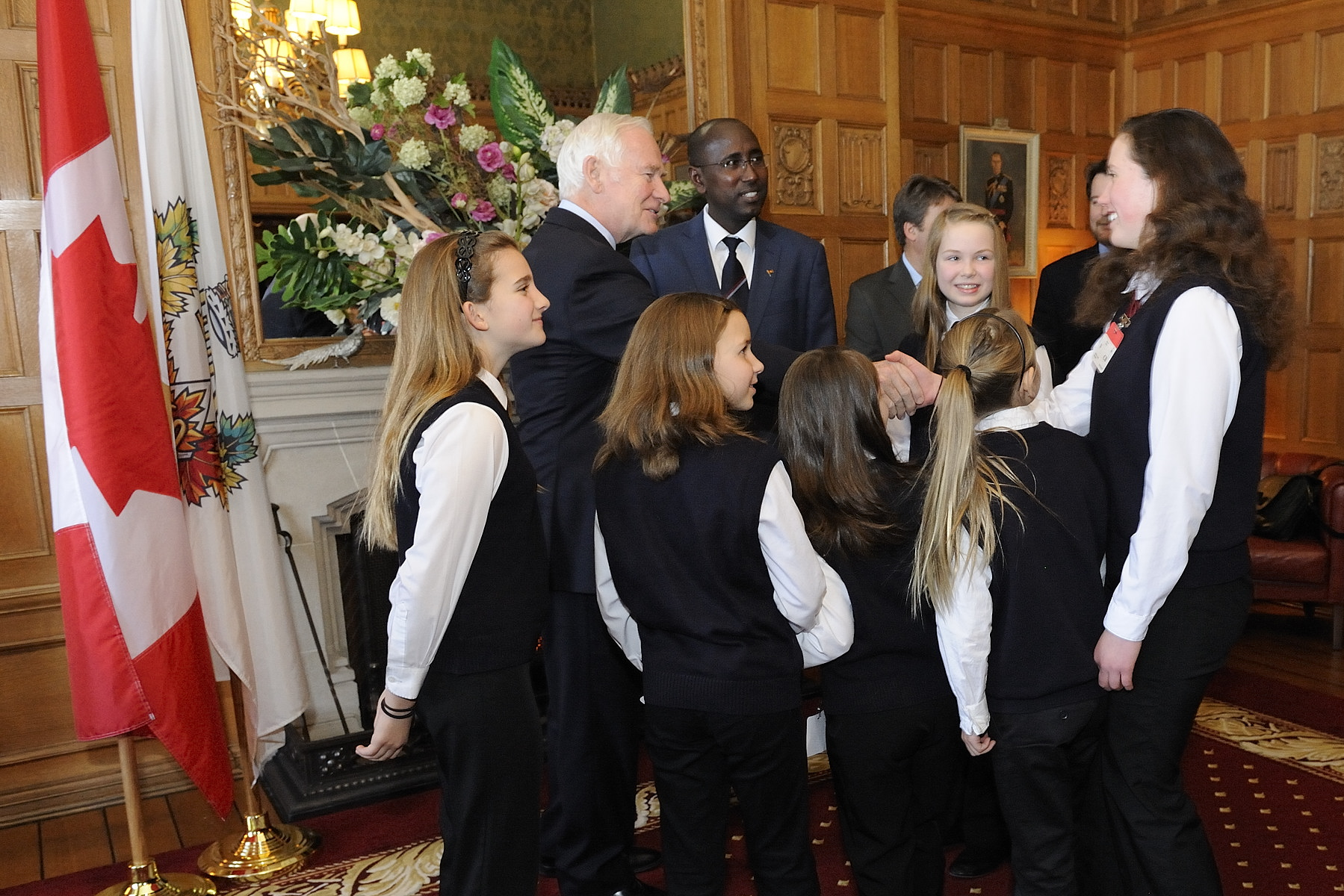Following the dedication ceremony, the Governor General and Mrs. Sharon Johnston met with the girls of Christ Church Cathedral Girls' Choir.
