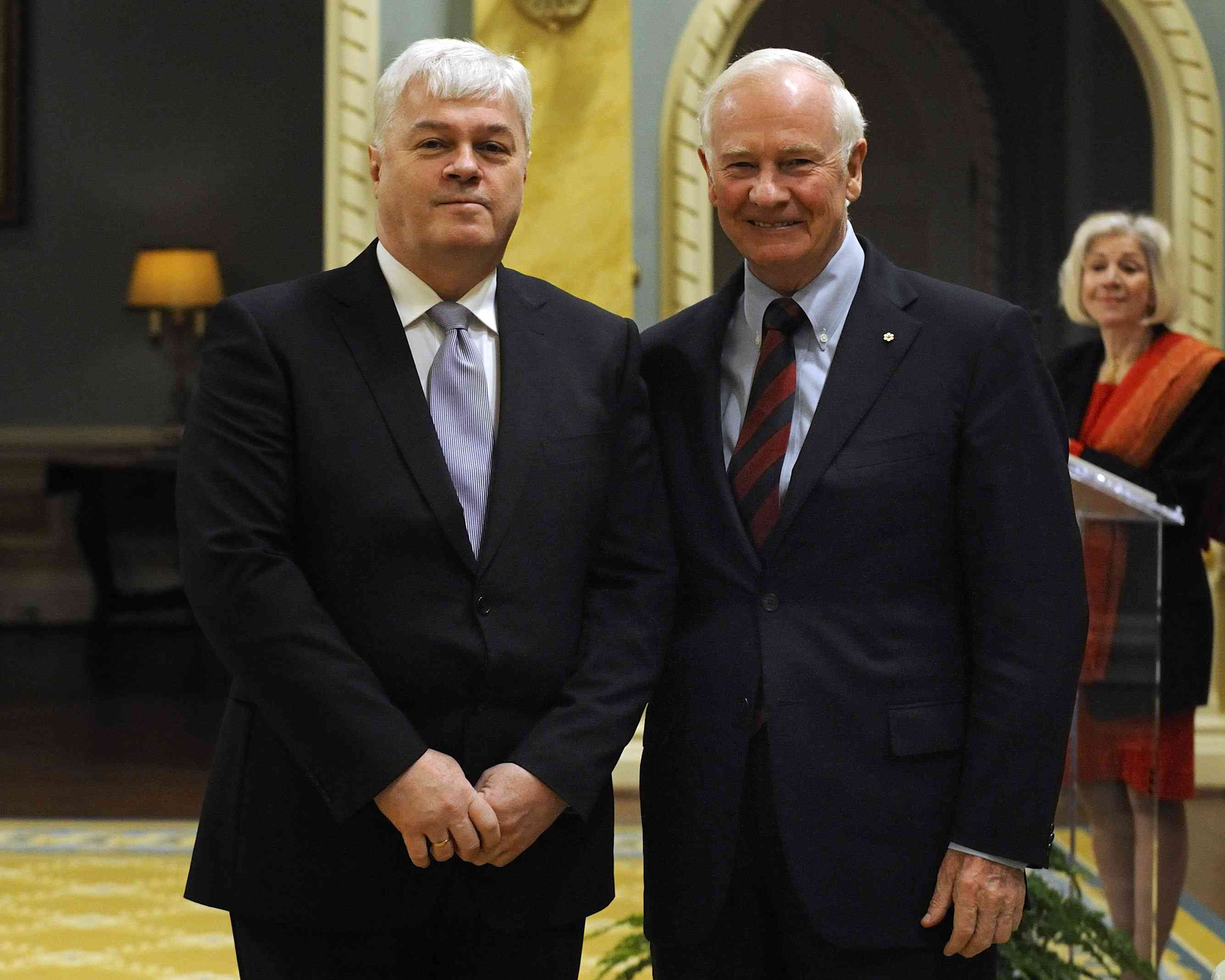 A presentation of credentials from four new heads of mission took place on March 8, 2012, at Rideau Hall. On this occasion, the Governor General first received the credentials of His Excellency Thordur Aegir Oskarsson, Ambassador of the Republic of Iceland.