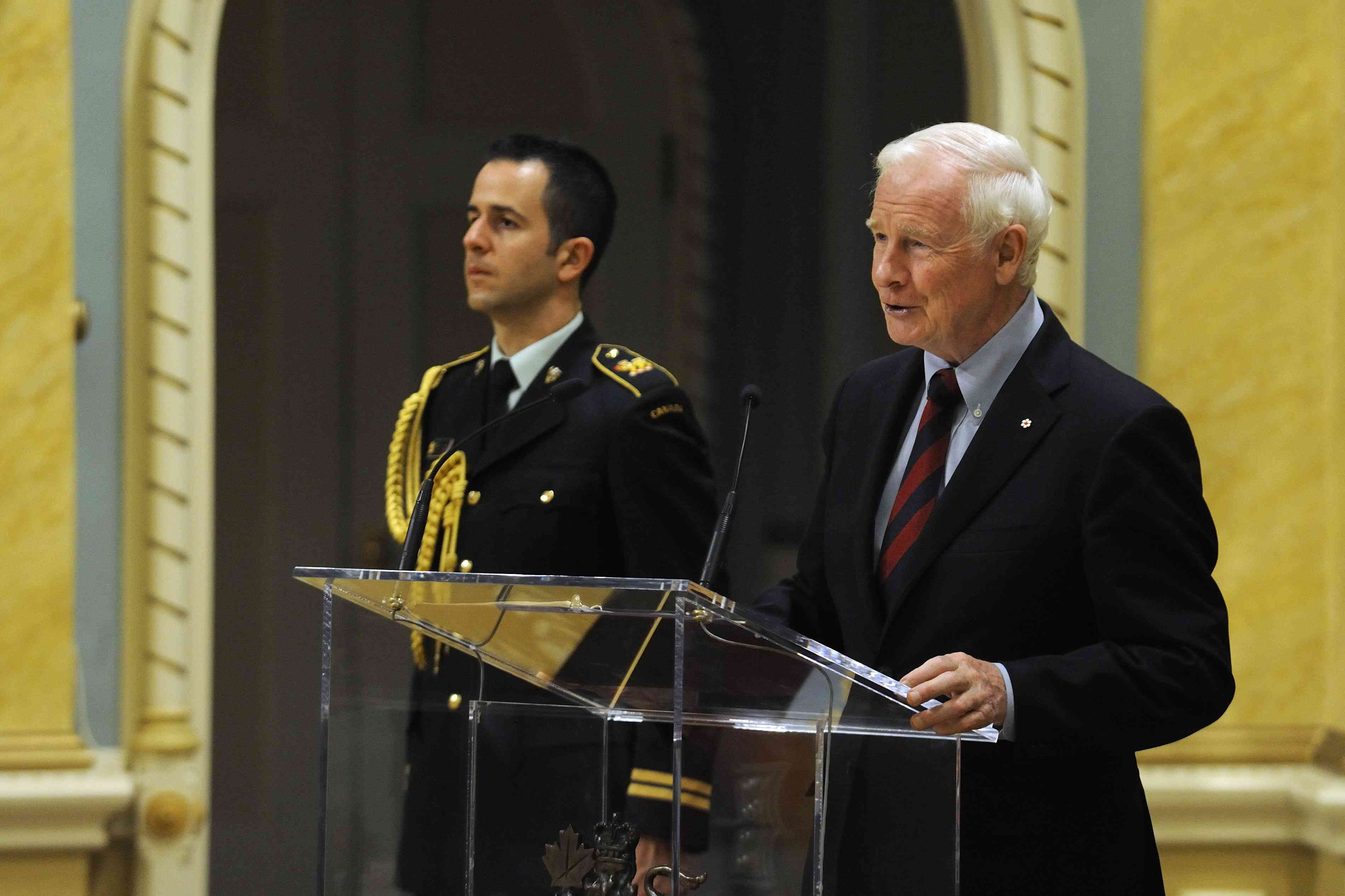 """Each of you represents the people of your respective nations, and you are here to communicate and work with Canadians in the common cause of building a smarter, more caring world,"" said His Excellency. ""And so it is with great optimism that I greet you today."""