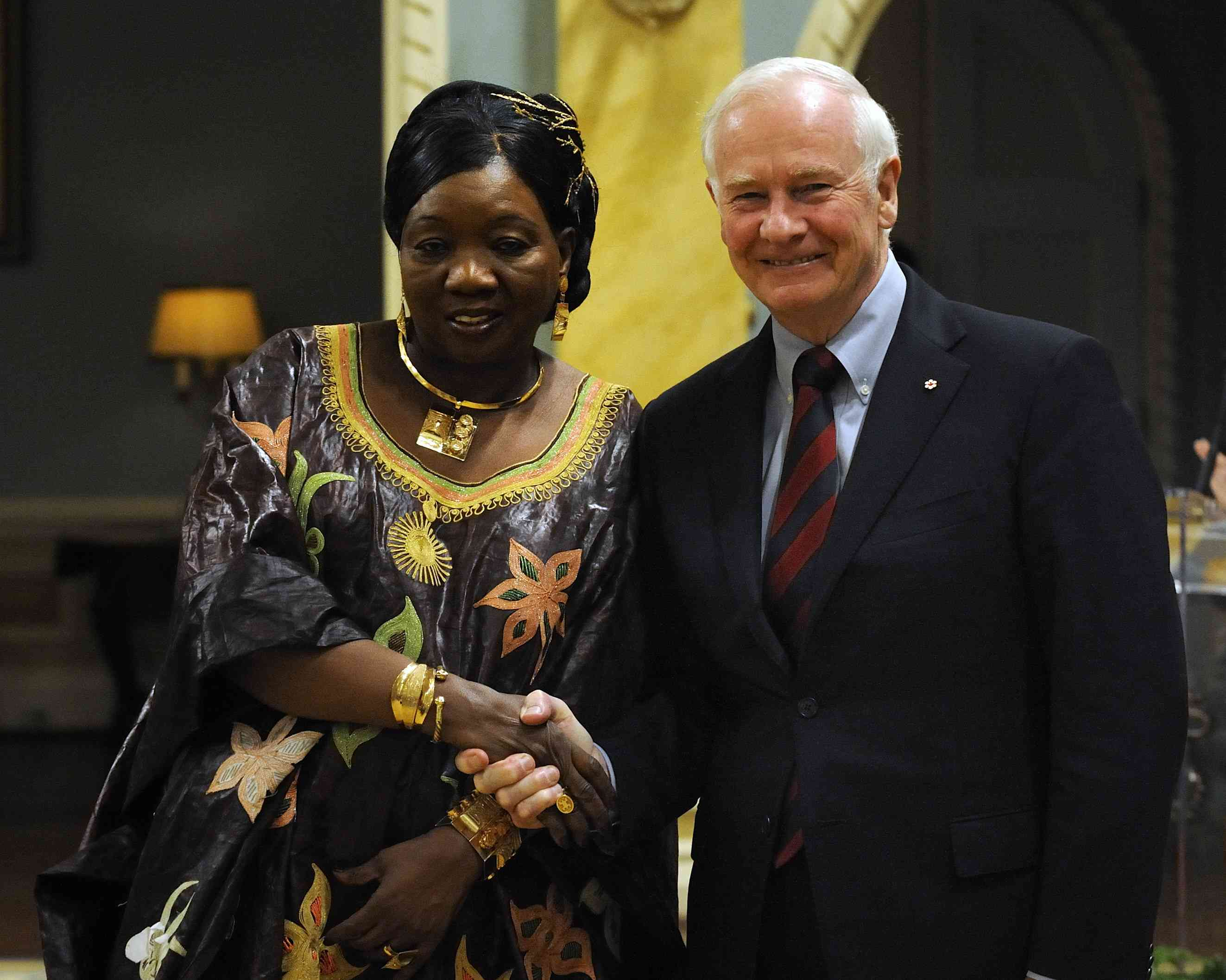 The Governor General received the credentials of Her Excellency Traoré Ami Diallo, Ambassador of the Republic of Mali.
