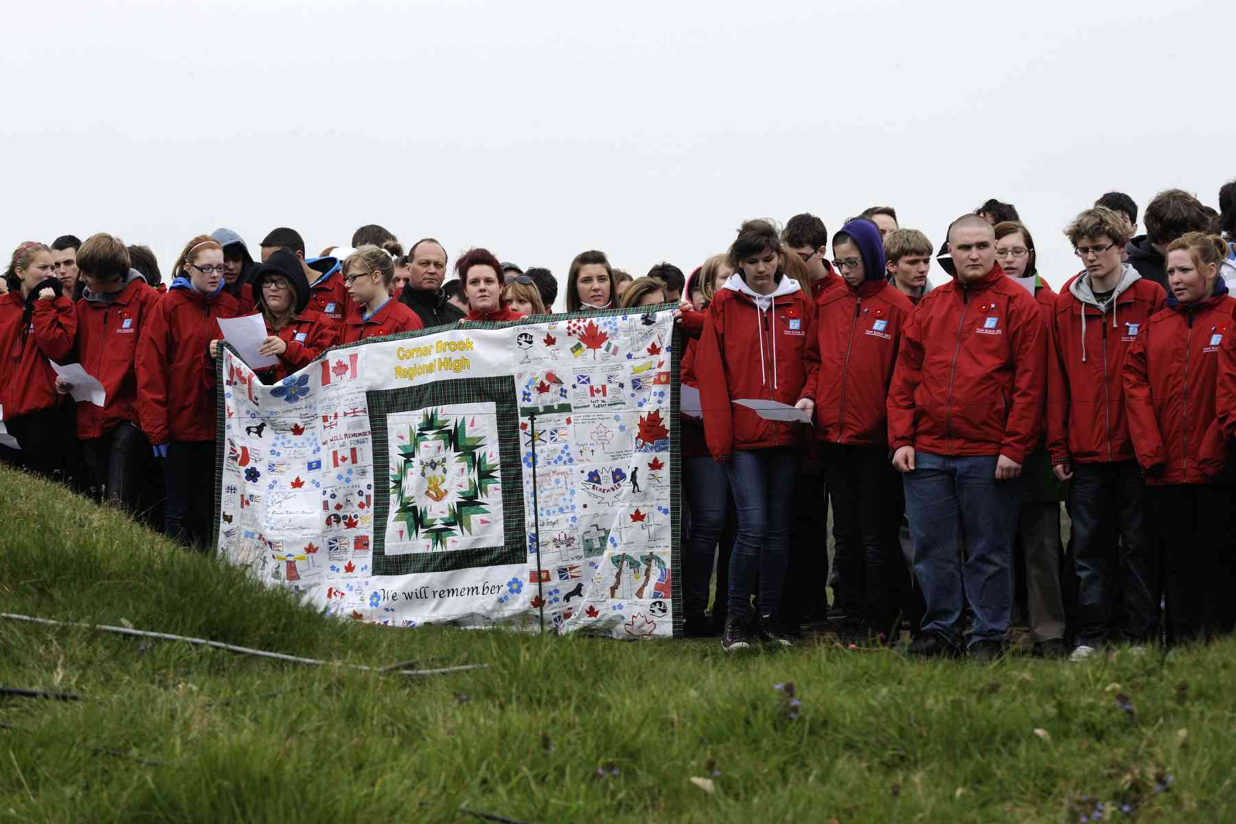 Hundreds of young Canadians were at Beaumont-Hamel with the Governor General.
