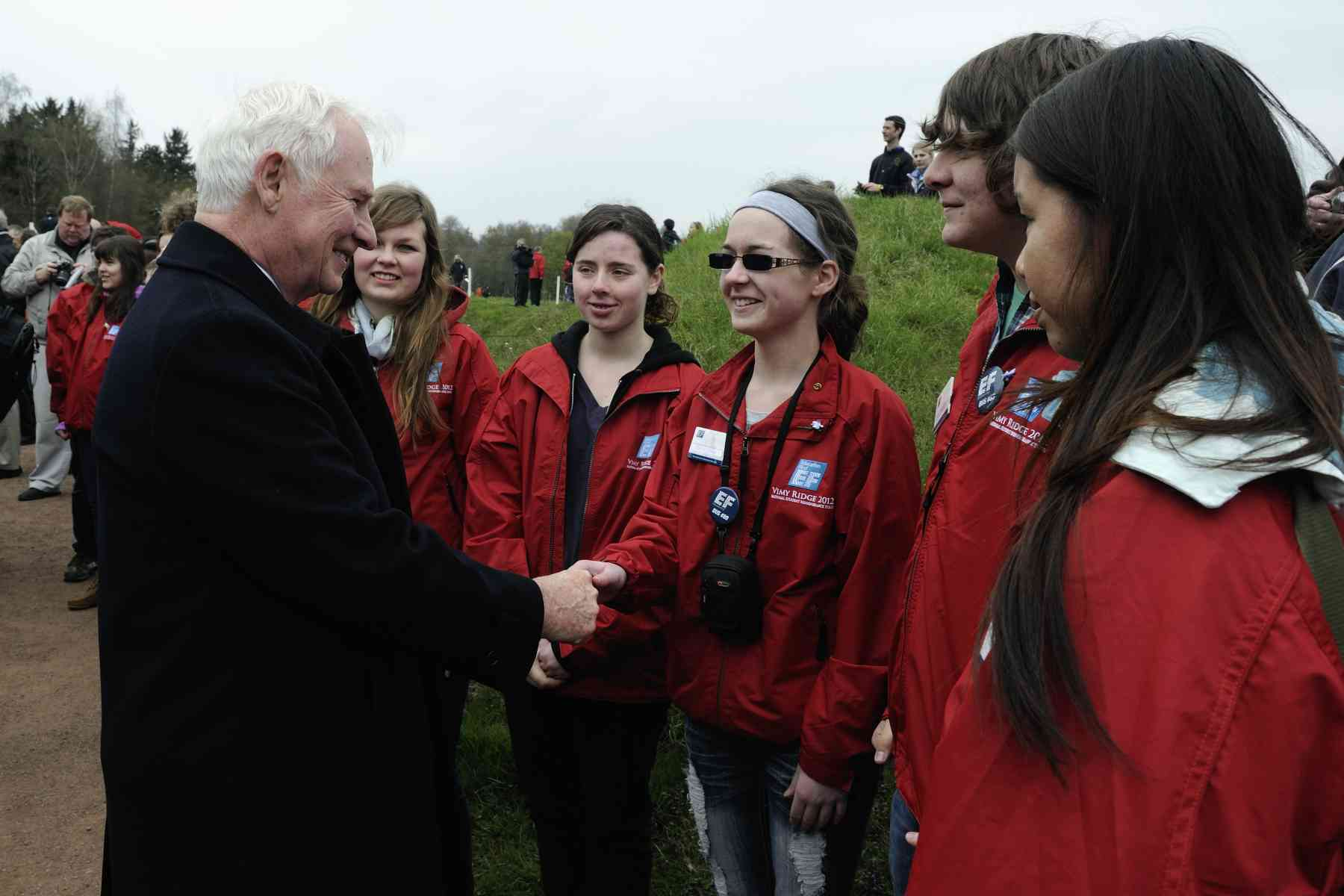 His Excellency met many of the young Canadians that were there.