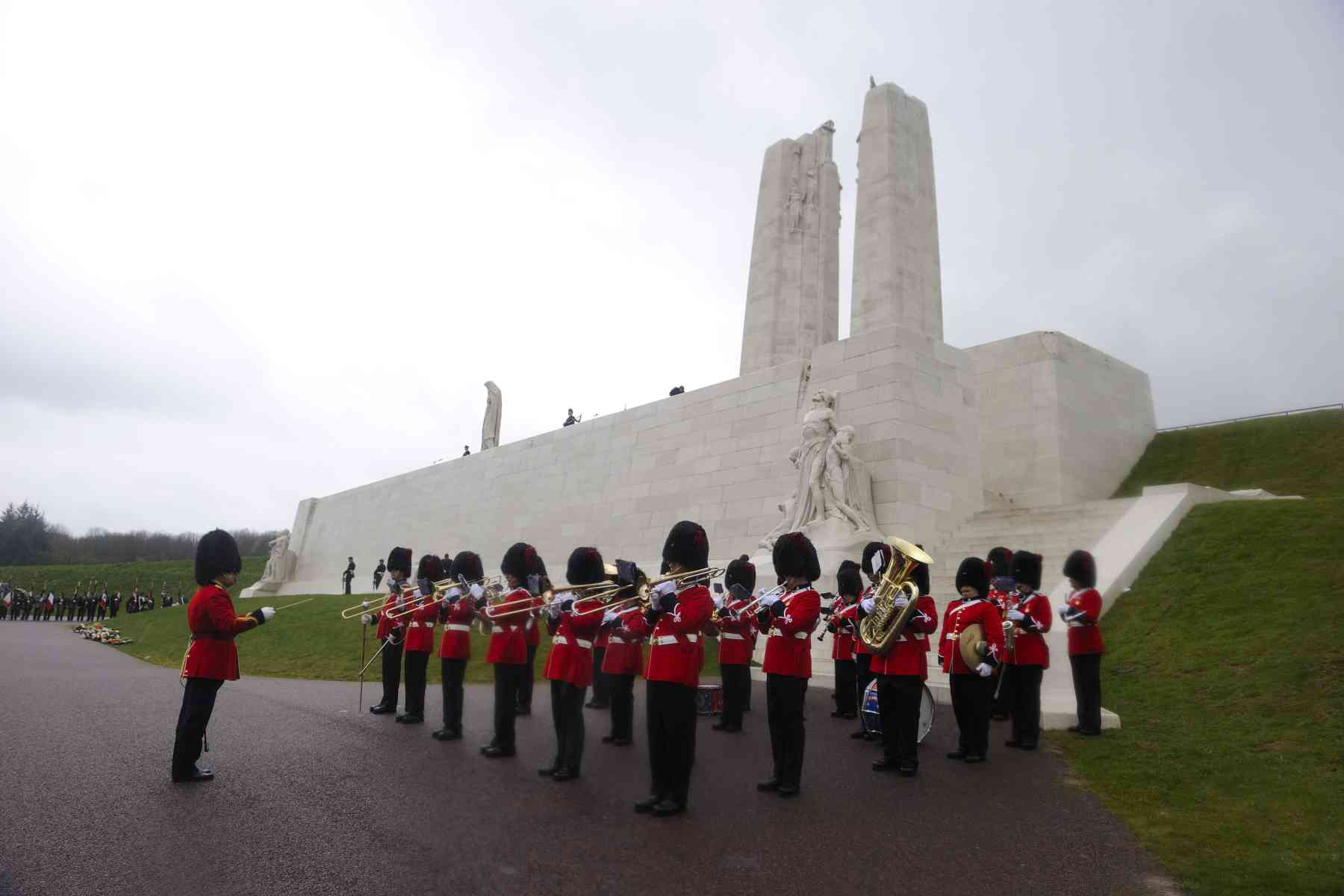 The ceremony took place at the Canadian National Vimy Memorial.