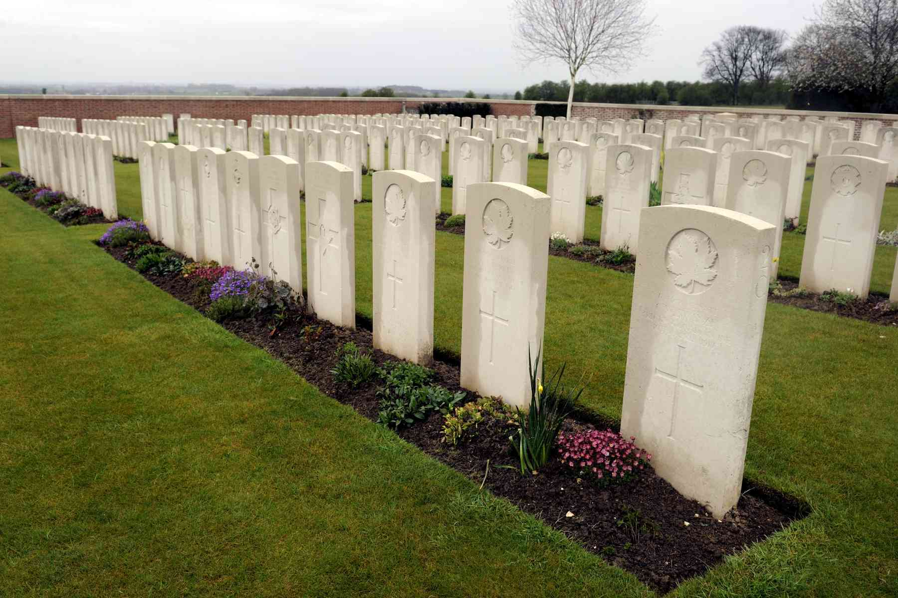 More than 200 Canadians are buried in the Bois-Carre British Cemetery.