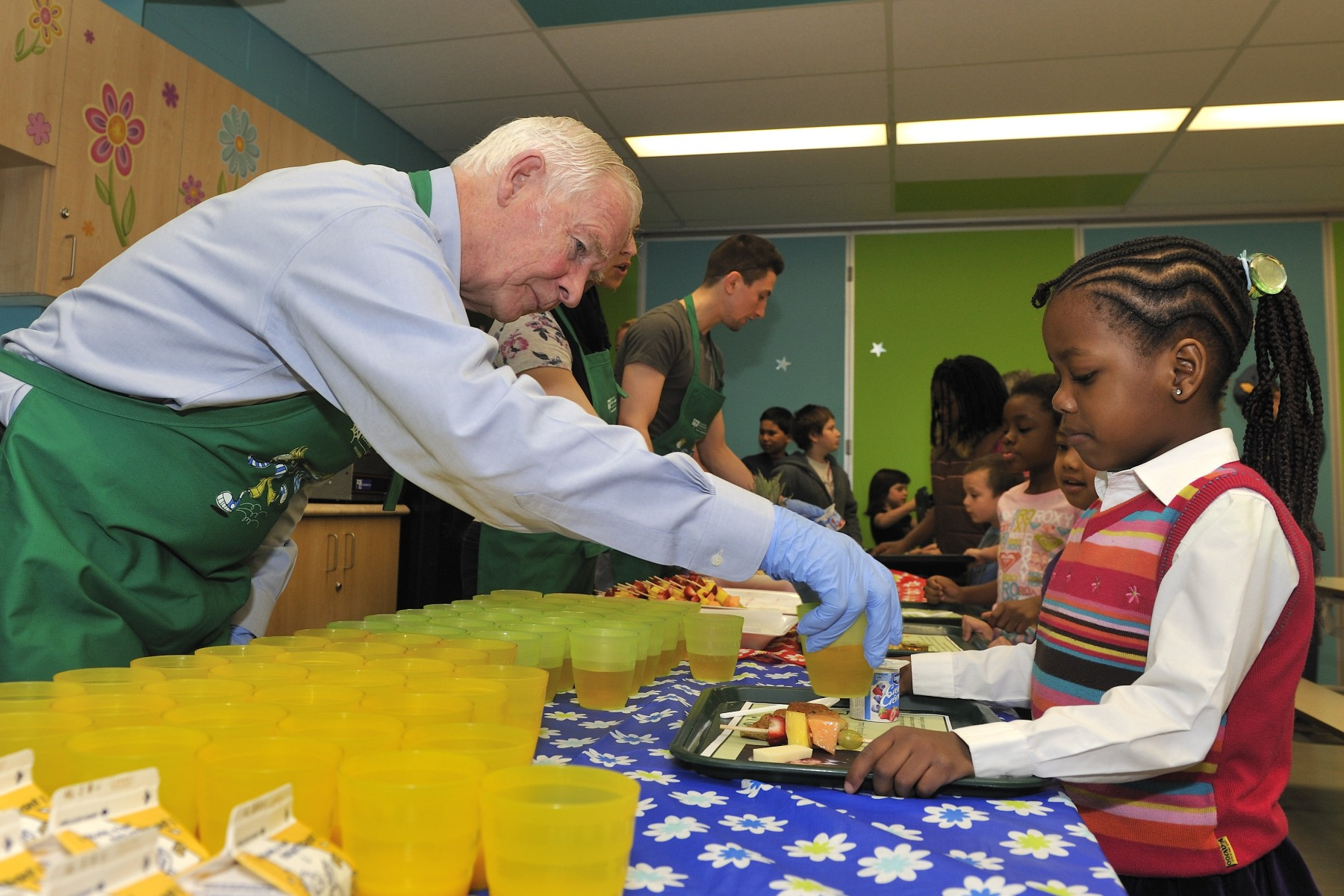 More than 100 students eat breakfast at Notre-Dame school every day.