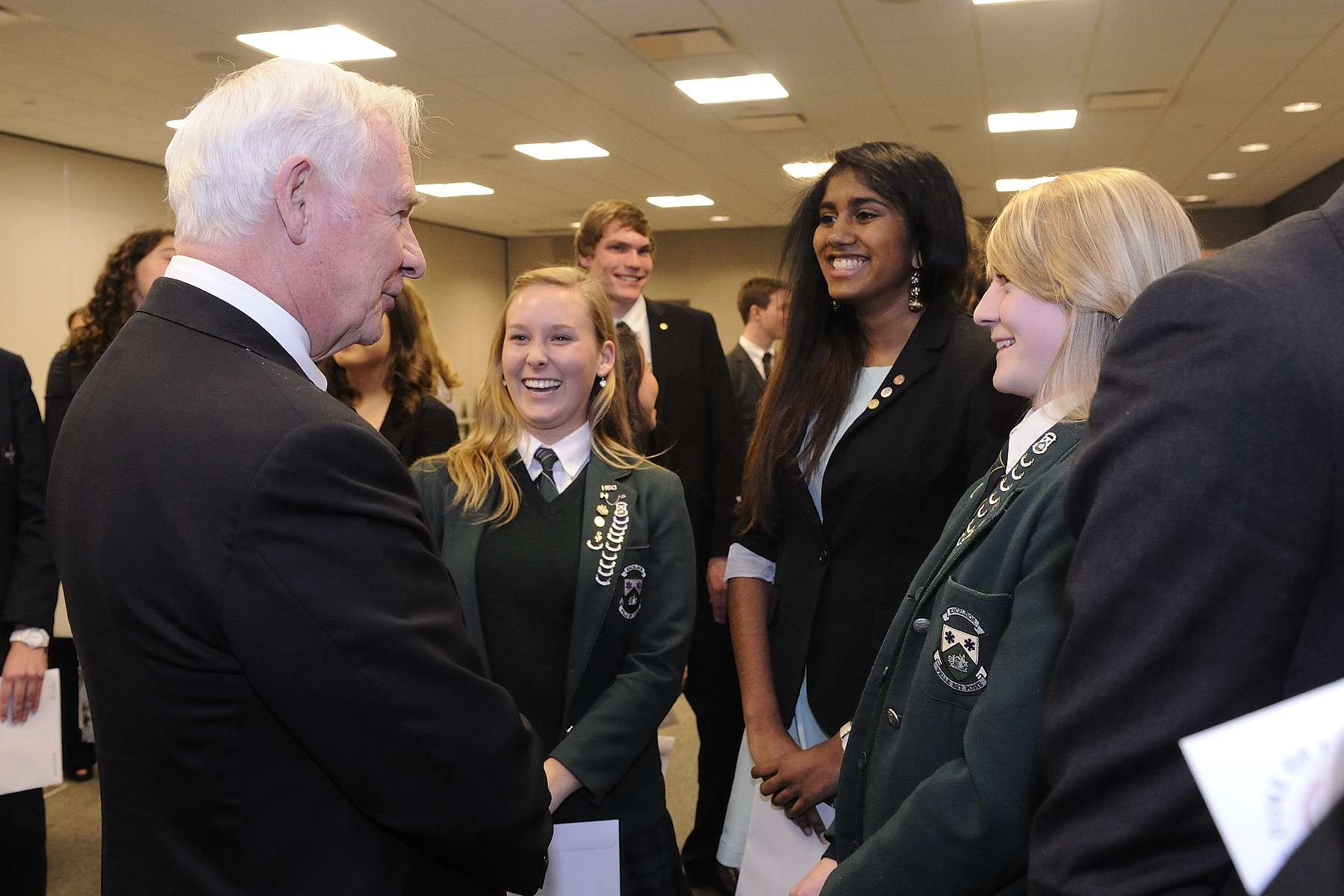 The Governor General met with some recipients following the ceremony.
