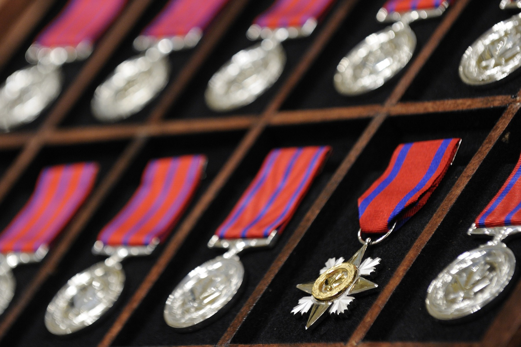 On April 20, 2012, His Excellency presented 2 Stars of Courage and 36 Medals of Bravery at a ceremony at Rideau Hall. The Decorations for Bravery were created in 1972. They recognize people who risk their lives and choose to defy their own instinct of survival to try to save a loved one or a perfect stranger whose life is in immediate danger.