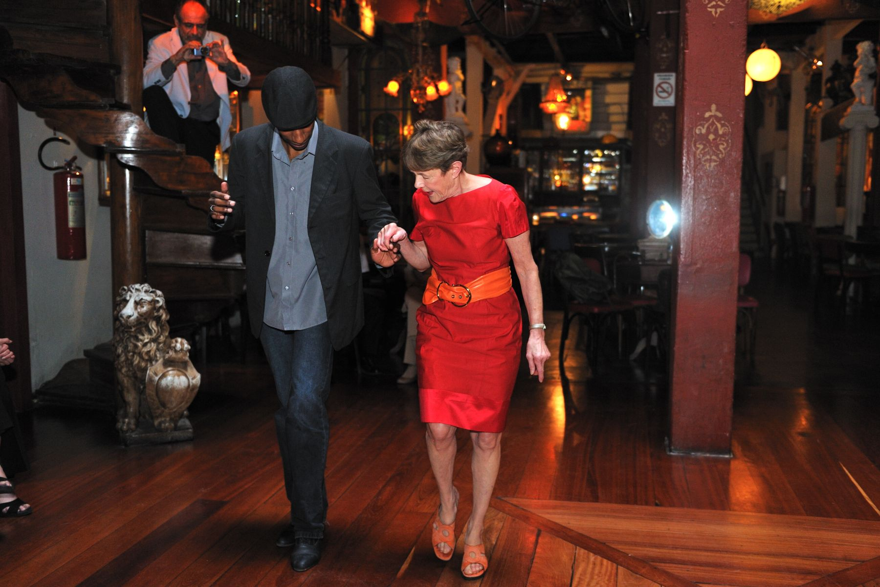 Her Excellency learned some samba moves from a dance teacher...