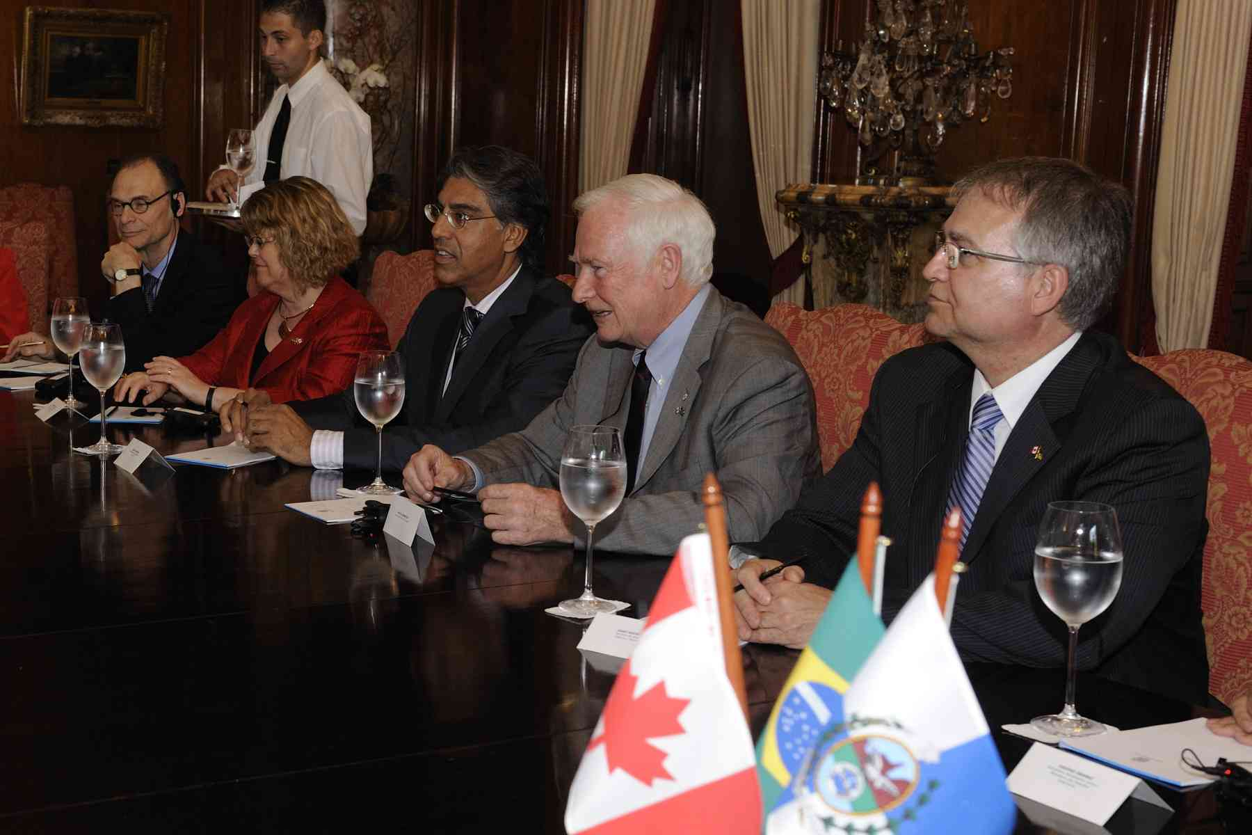Selected members of the Canadian delegation also attended the courtesy call.
