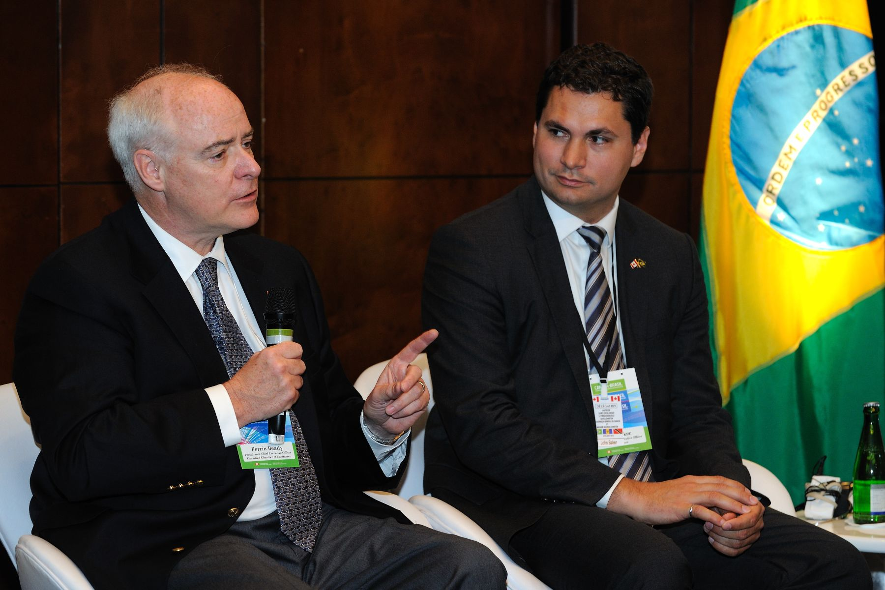 The Honourable Perrin Beatty, President and Chief Executive Officer of the Canadian Chamber of Commerce and delegate also took the microphone. The Canada-Brazil Innovation Nations Forum also aims to stimulate science and technology collaboration between Canada and Brazil.