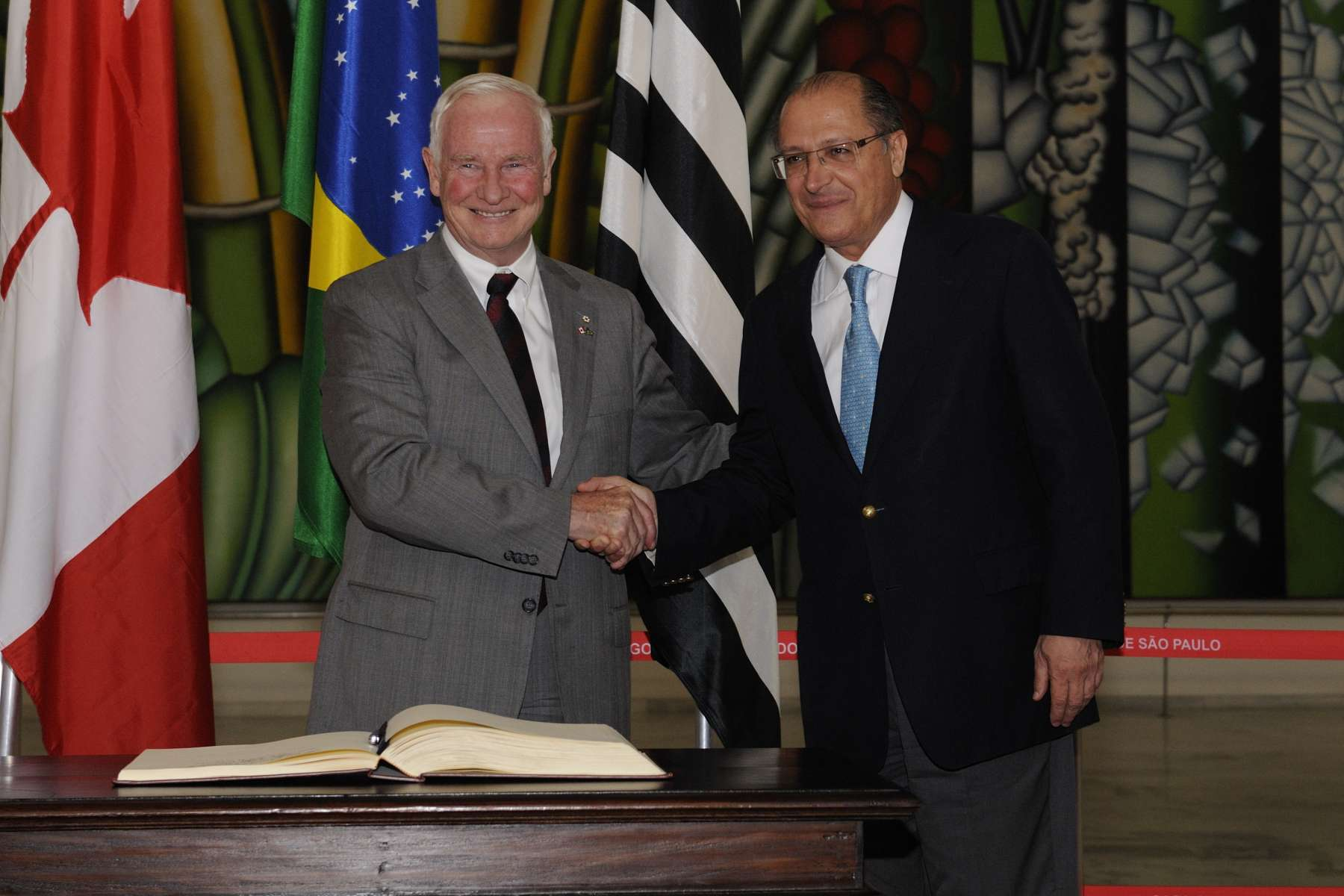 The Governor General met with Mr. Geraldo José Rodrigues Alckmin Filho, Governor of the State of São Paulo.