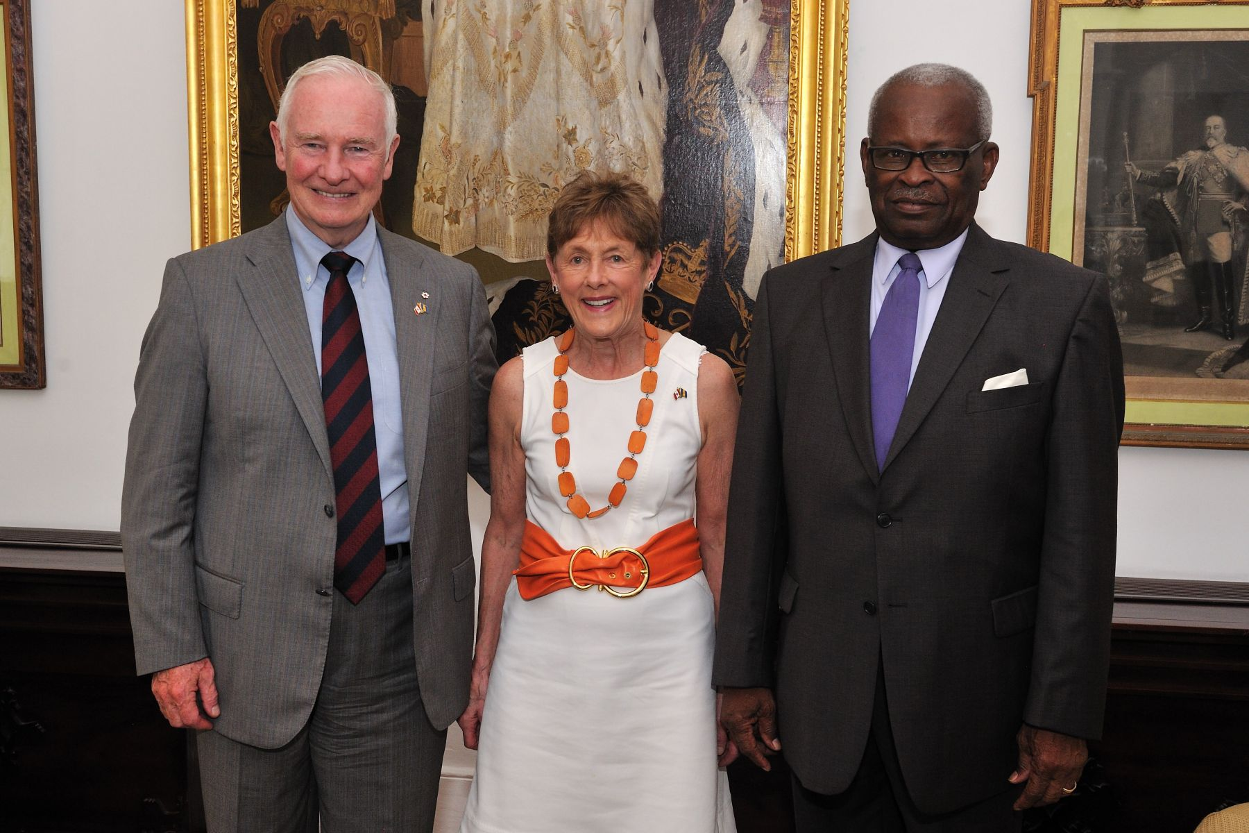 Their Excellencies and selected members of the Canadian delegation met with the Honourable Elliott Belgrave, Acting Governor-General of Barbados.