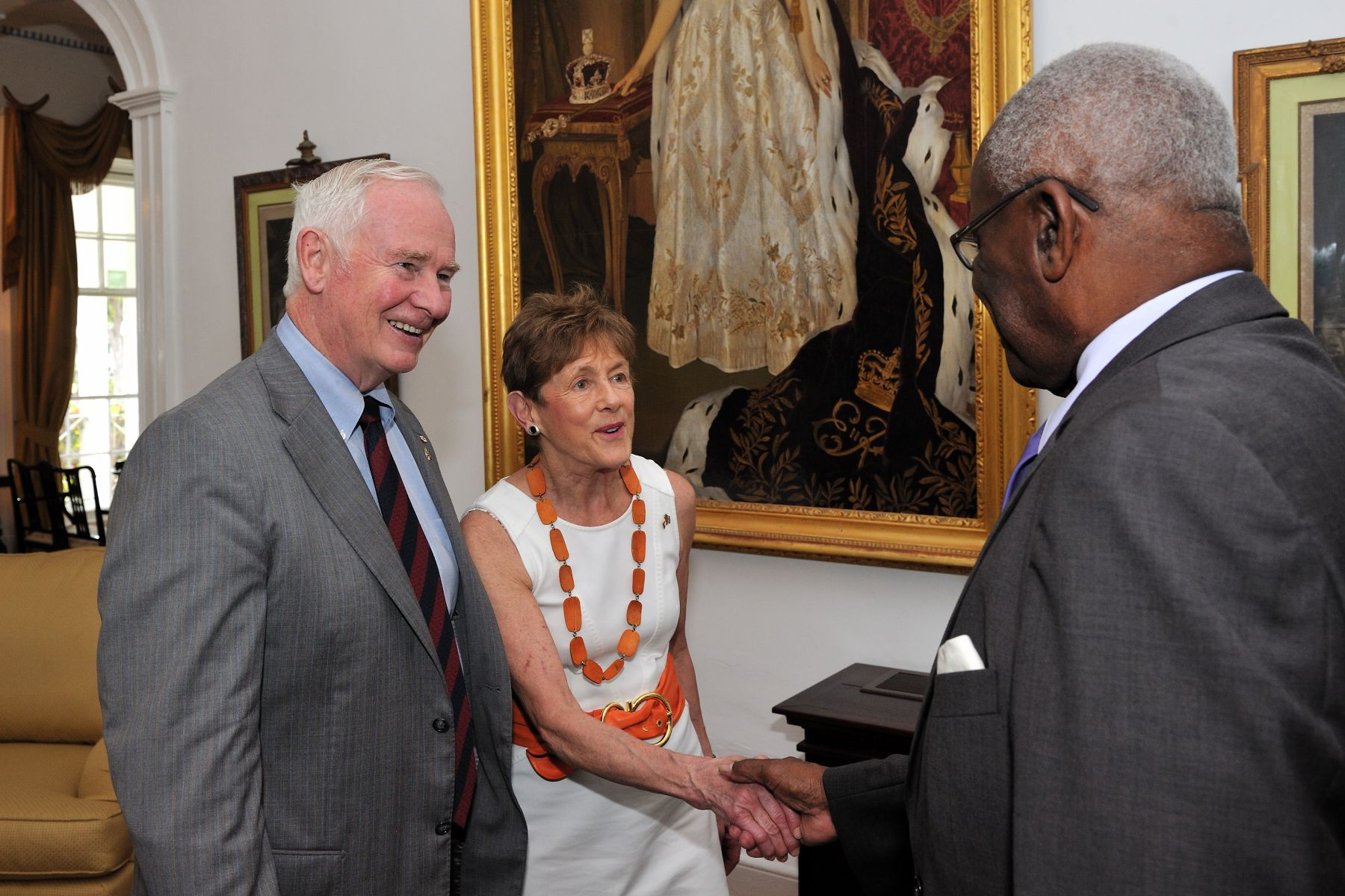 The courtesy call took place on the second day of Their Excellencies' working visit to Barbados.