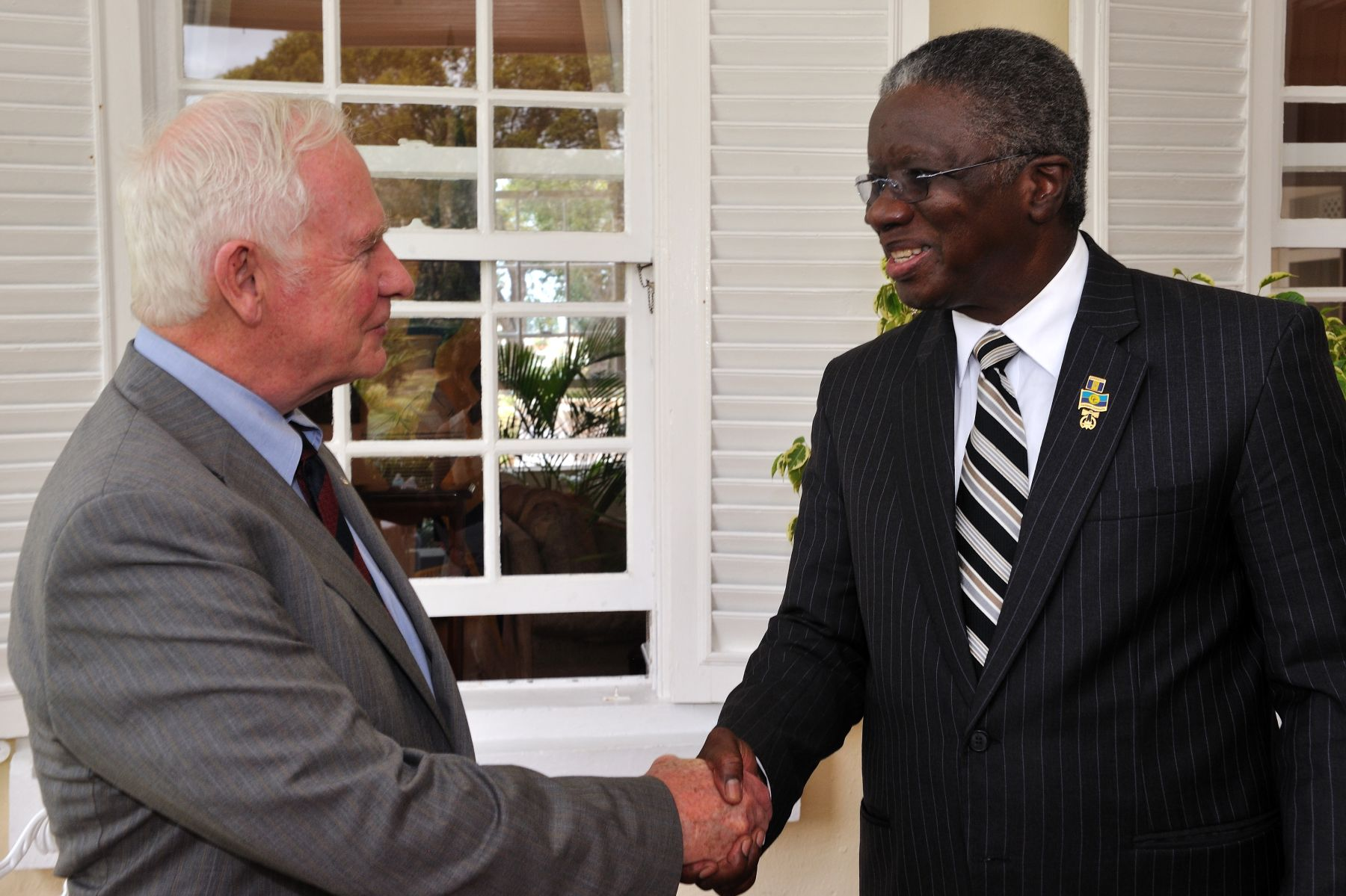 The meeting with the Prime Minister of Barbados took place at Ilaro, in Bridgetown, Barbados.