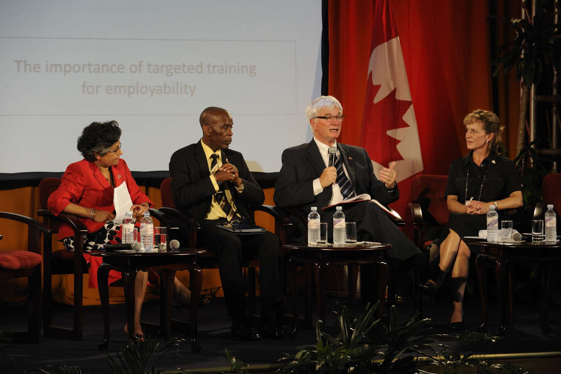 Canadian delegate James Knight also took part in the discussion.