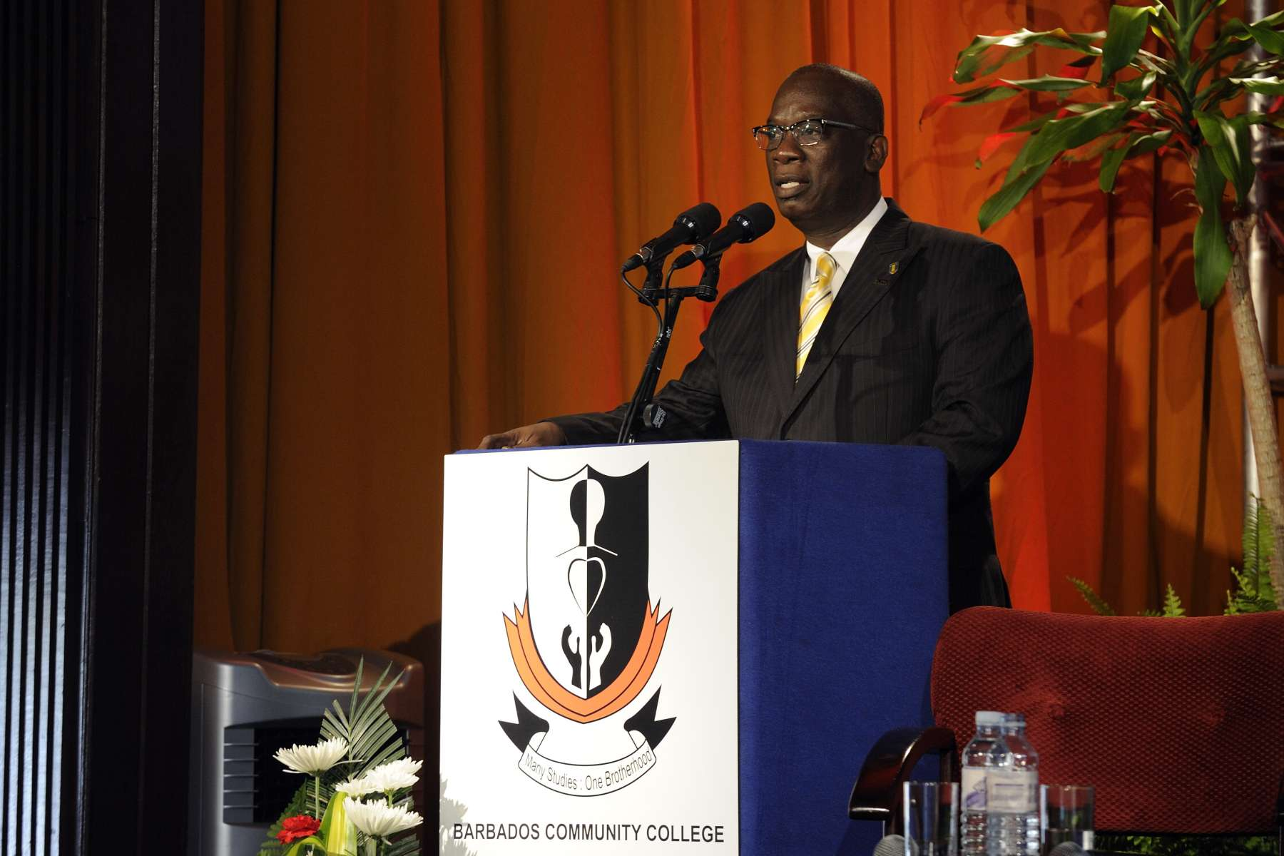 The Minister of Education of Barbados, Ronald Jones, delivered remarks.