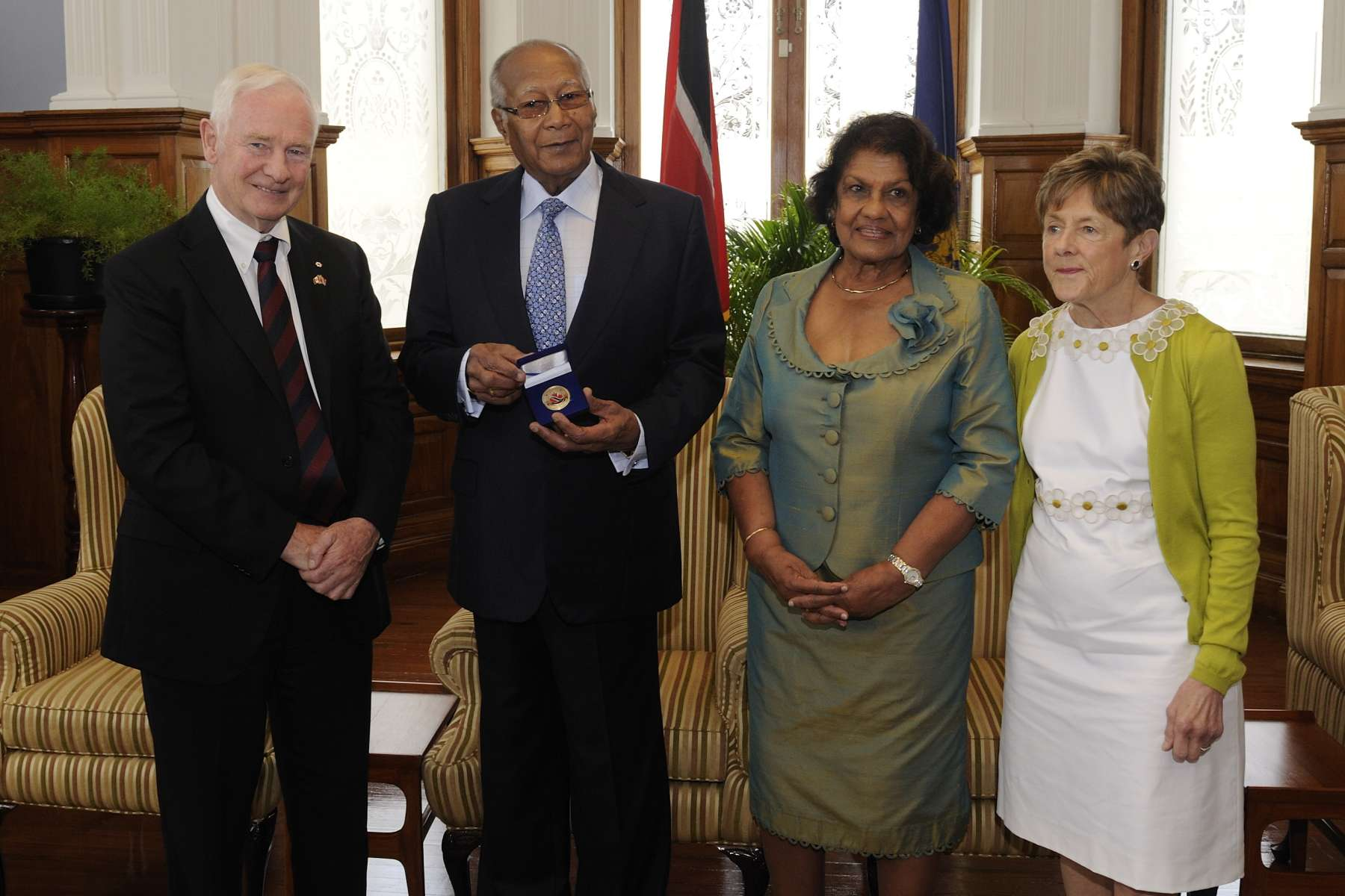 This year marks 50 years of bilateral relations between the two countries, as well as 50 years of independence for Trinidad and Tobago. The Governor General presented a 50th anniversary commemorative coin to the President of the Republic of Trinidad and Tobago.