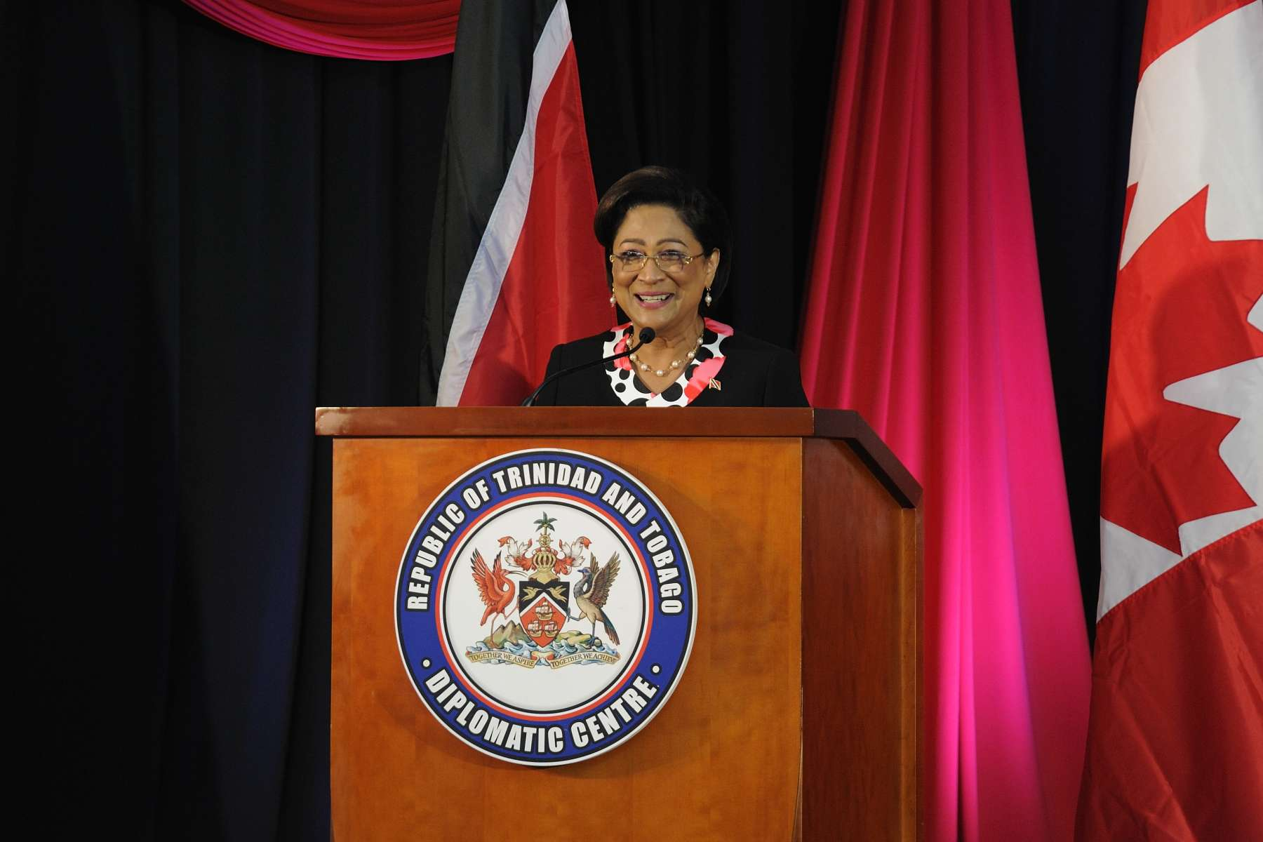 The Honourable Kamla Persad-Bissessar, Prime Minister of the Republic of Trinidad and Tobago, also delivered remarks...