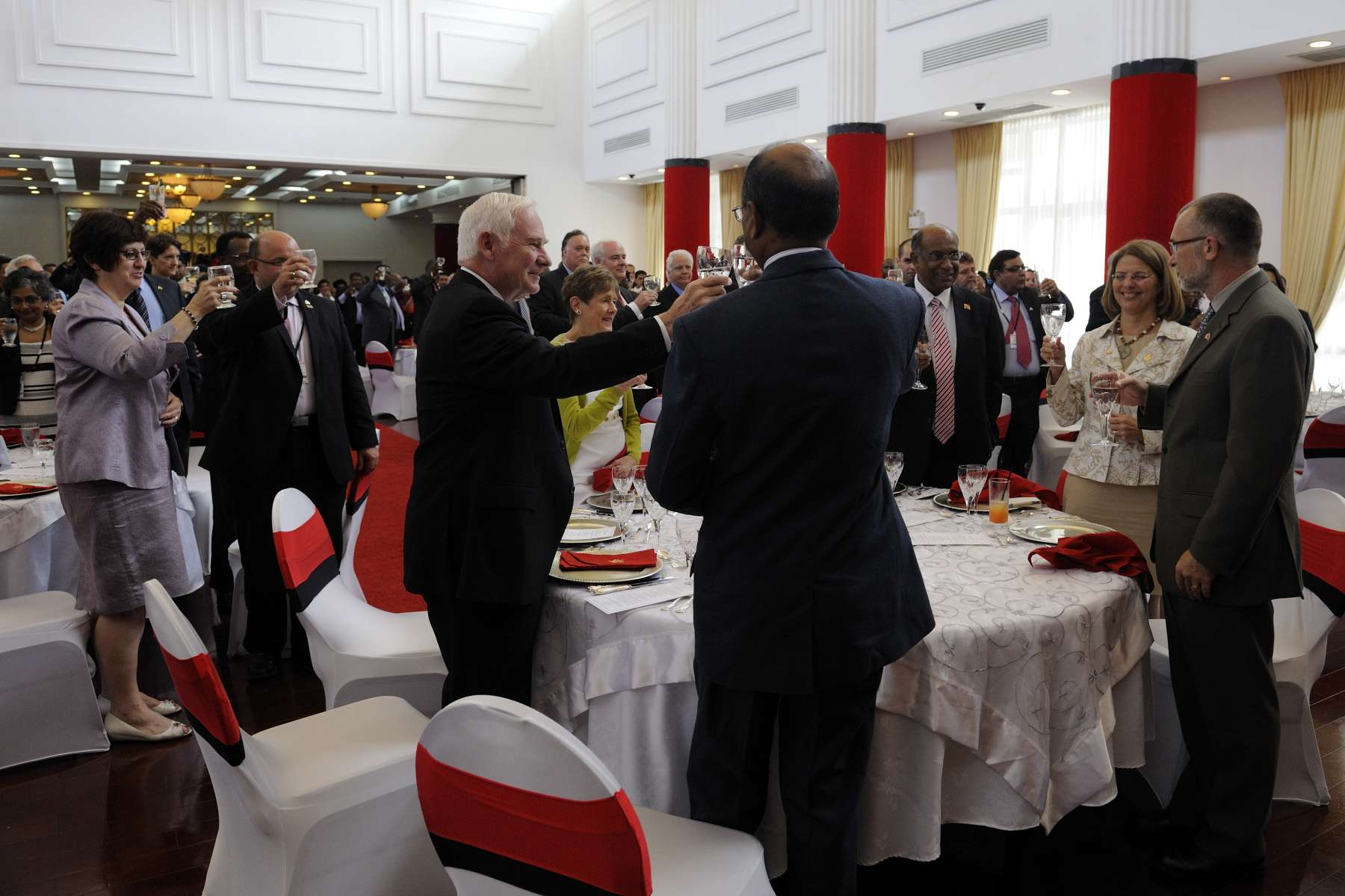 Government officials, civil society, academics and prominent business people were invited to the luncheon.