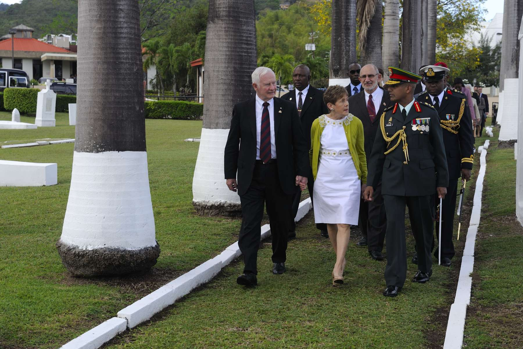 His Excellency, accompanied by his spouse, participated in a wreath-laying ceremony at St. James Commonwealth Military Cemetery.