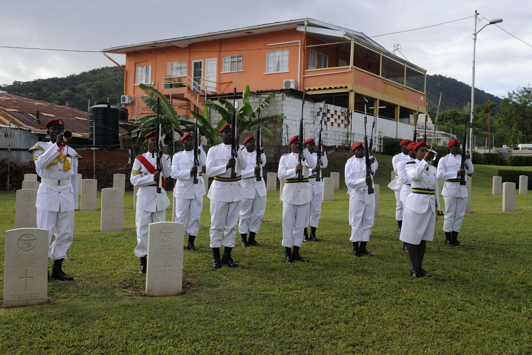 St. James Commonwealth Military Cemetery is located in Port of Spain, Trinidad and Tobago.