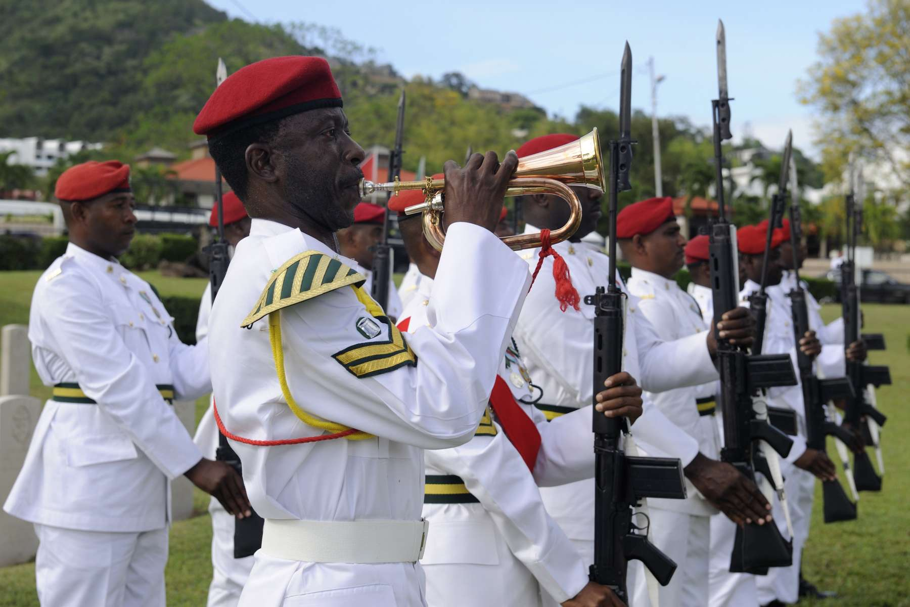 Many Trinidad and Tobago soldiers took part in the event.