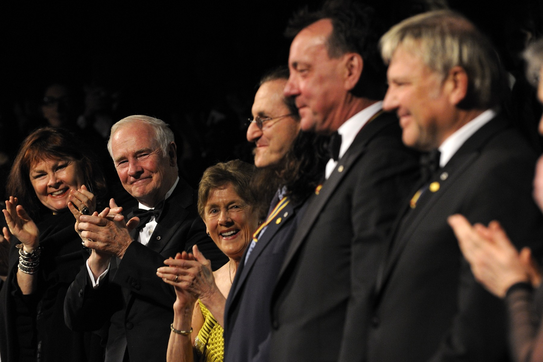 The members of Rush were among the 2012 GGPAA for Lifetime Artistic Achievement Award Laureates.