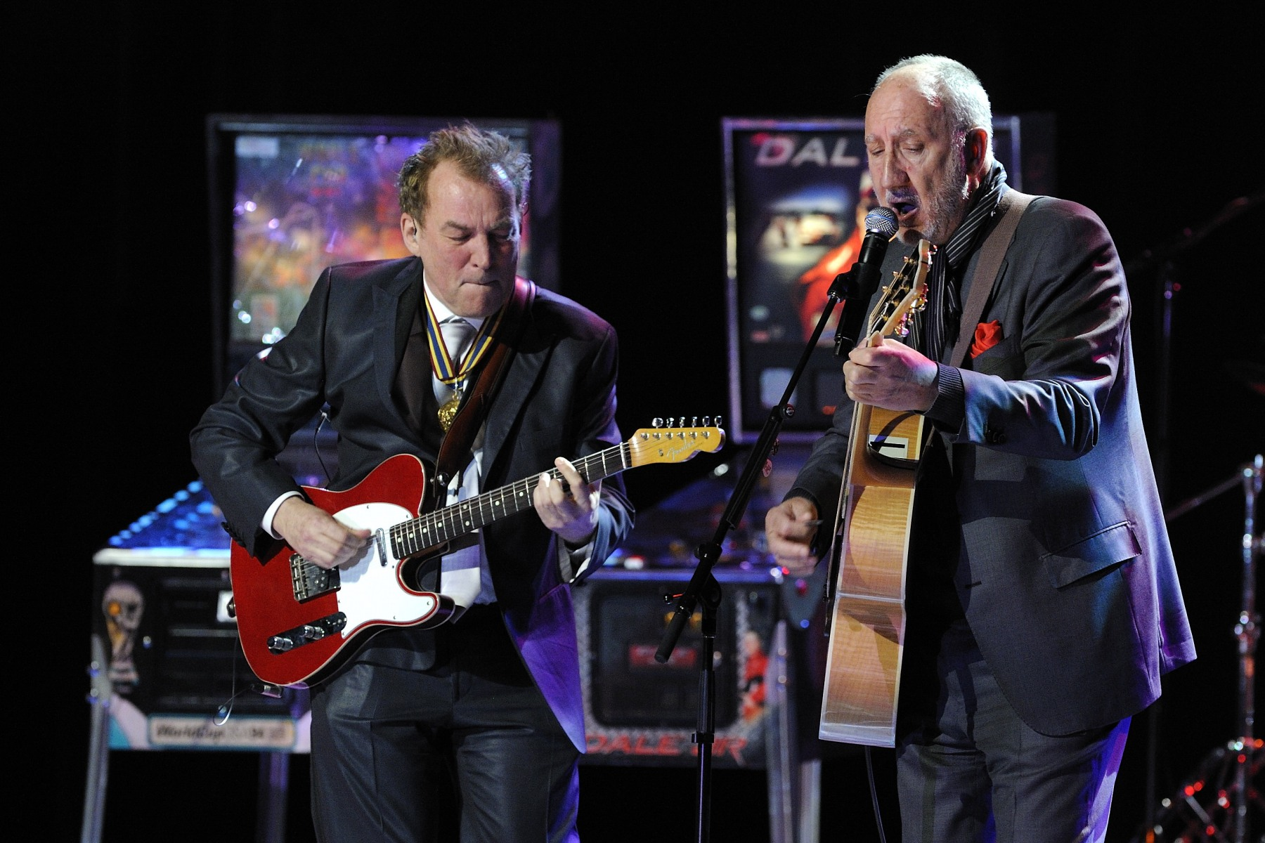 Pete Townshend (from The Who) joined Des McAnuff, 2012 National Arts Centre Award Laureate, on stage.