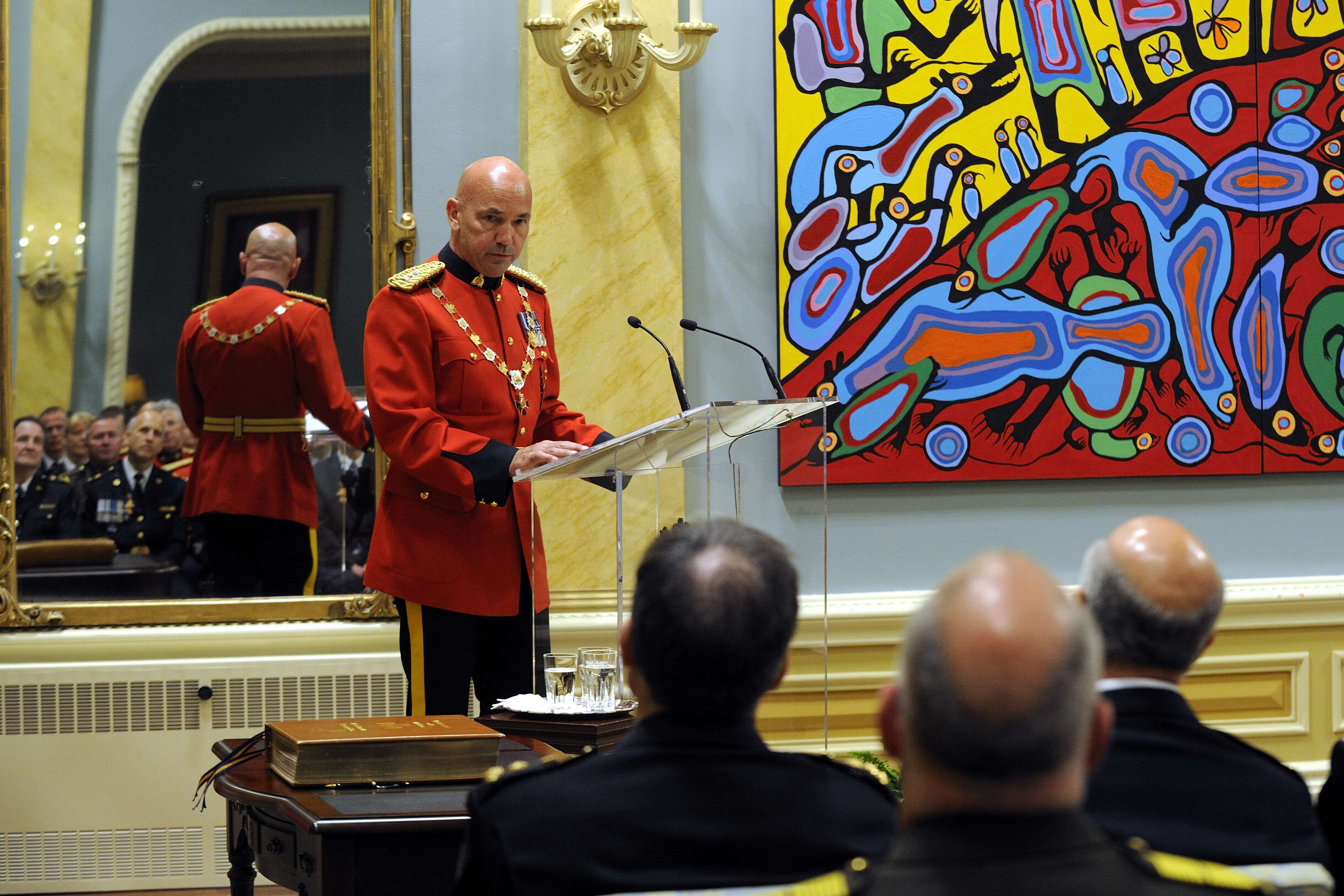 Robert Paulson, C.O.M., Commissioner of the Royal Canadian Mounted Police and Principal Commander of the Order, also spoke during this event.