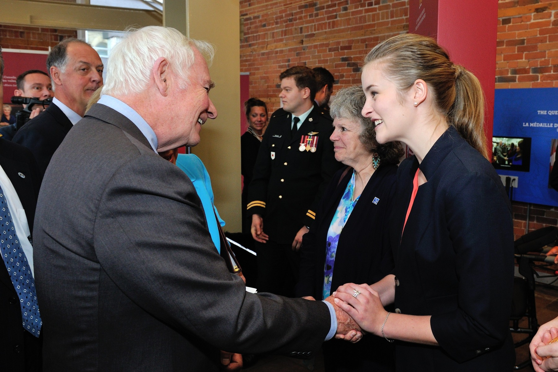 His Excellency also met with Emma Dubé. Recipient of the 2011 Governor General's Academic Medal (Bronze) at Highland Secondary School in Comox, British Columbia, 