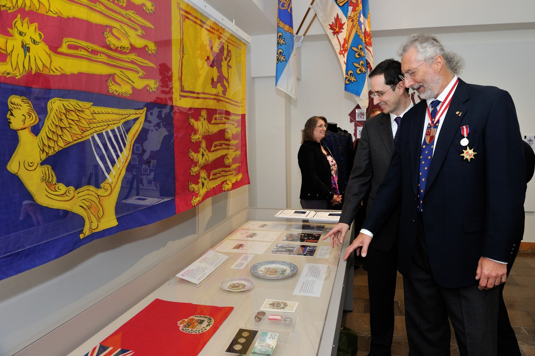 The exhibit also includes the work of the Canadian Heraldic Authority in creating coats of arms and other national emblems. Highlights include the Royal Banner of King George VI, flown at Rideau Hall during the Royal visit of 1939.