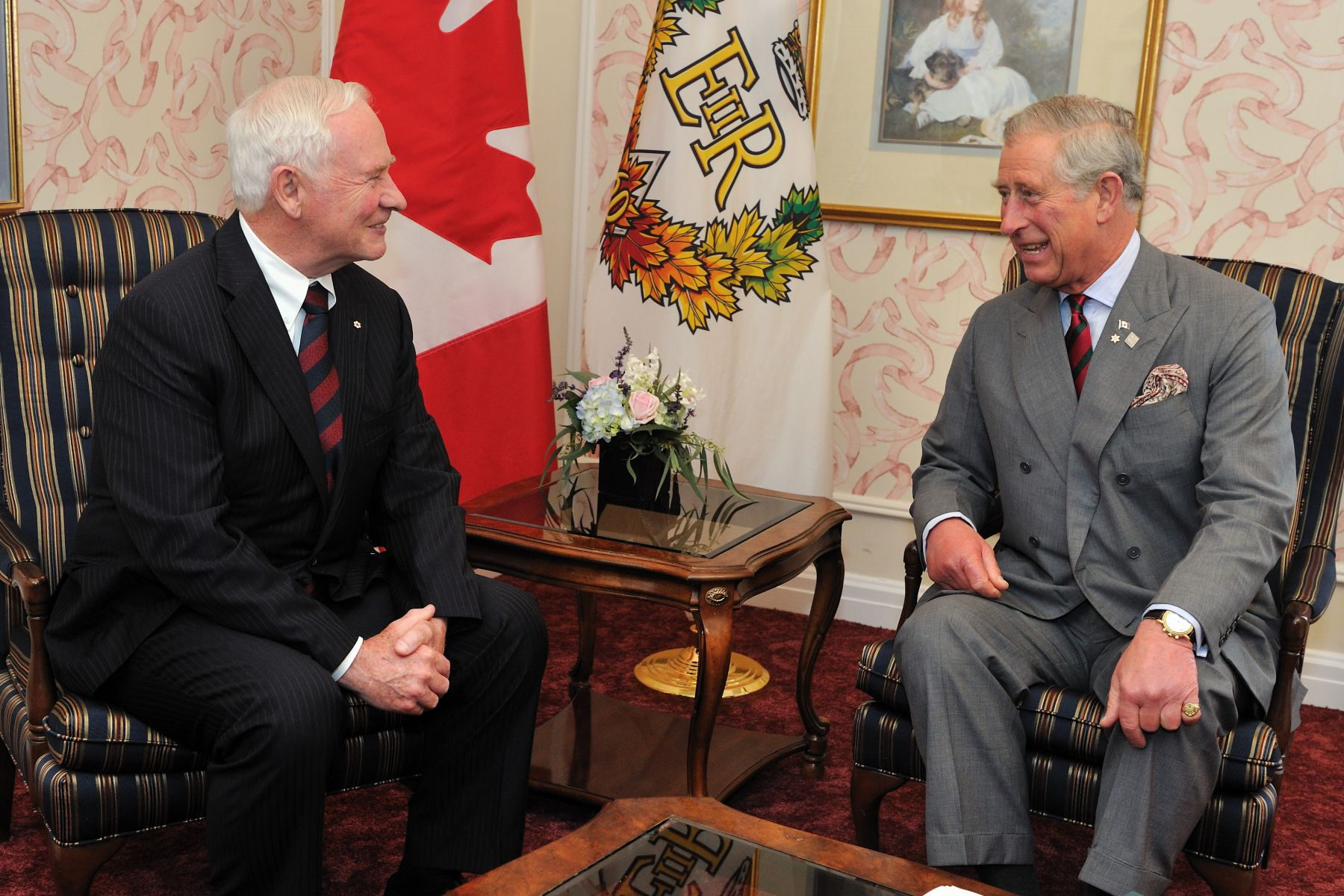 His Royal Highness The Prince of Wales met with the Governor General on the last day of his visit to Canada.