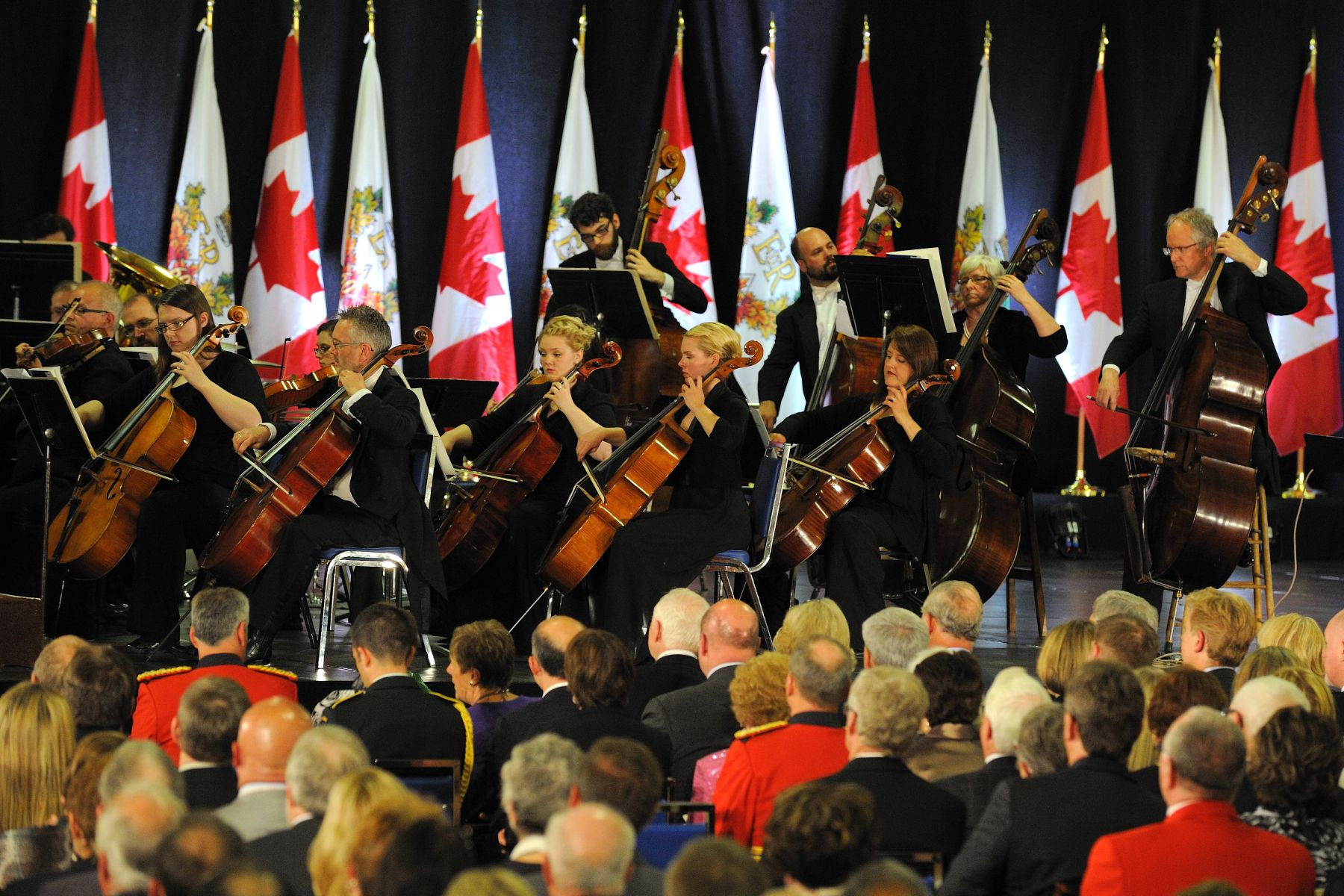 The Diamond Jubilee Concert hosted by the Government of Canada consisted of a performance by the Regina Symphony Orchestra.
