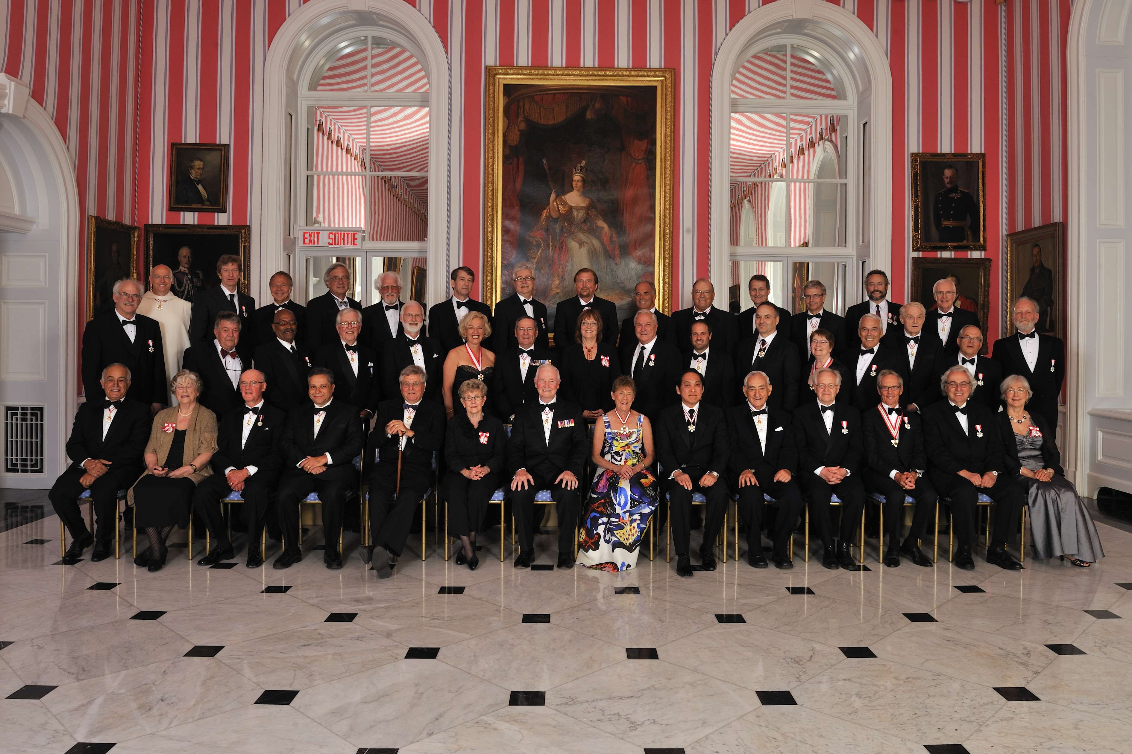 Their Excellencies are pictured with the recipients that were invested into the Order of Canada on May 25, 2012.