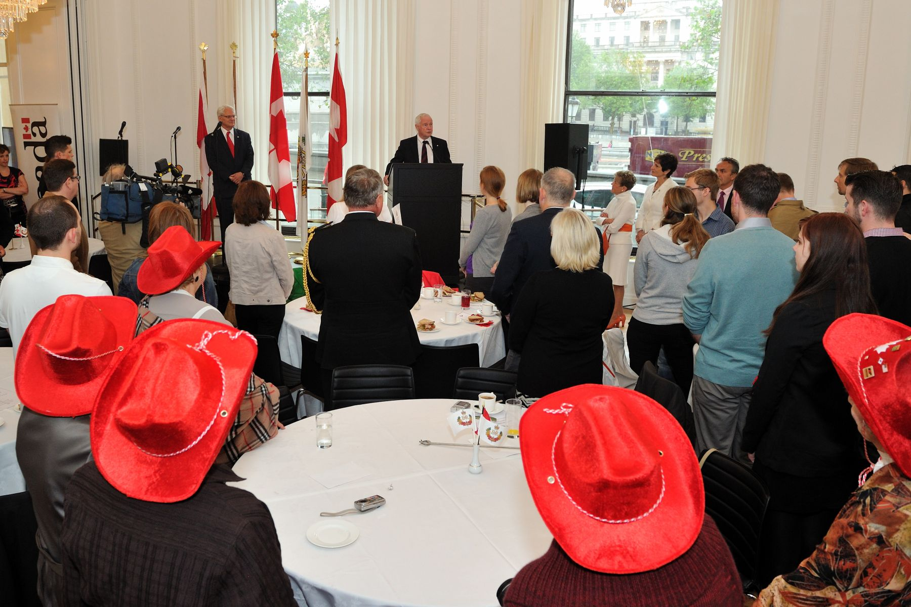 Their Excellencies are in London, England to represent their fellow Canadians and take part in The Central Weekend to celebrate The Queen's Diamond Jubilee. They participated in a luncheon with London's Canadian community at Canada House as part of The Big Jubilee Lunch.