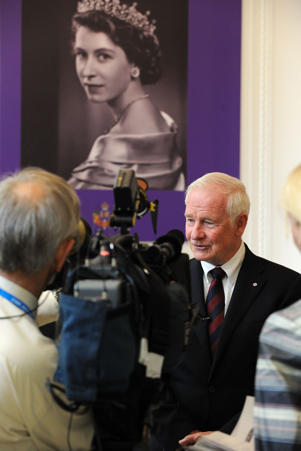 The Governor General gave a few interviews to media who came at Canada House to cover the Big Jubilee Lunch.