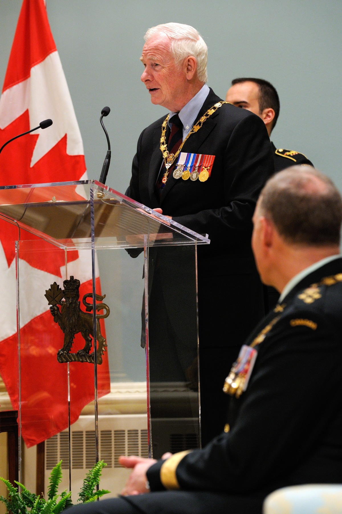 """Over the past four decades, many of Canada's finest servicemen and women have been invested into the Order of Military Merit,"" said His Excellency. ""And as it did for them, this honour speaks to the confidence your commanding officers and your country have in you. We are truly fortunate to have you in uniform."""
