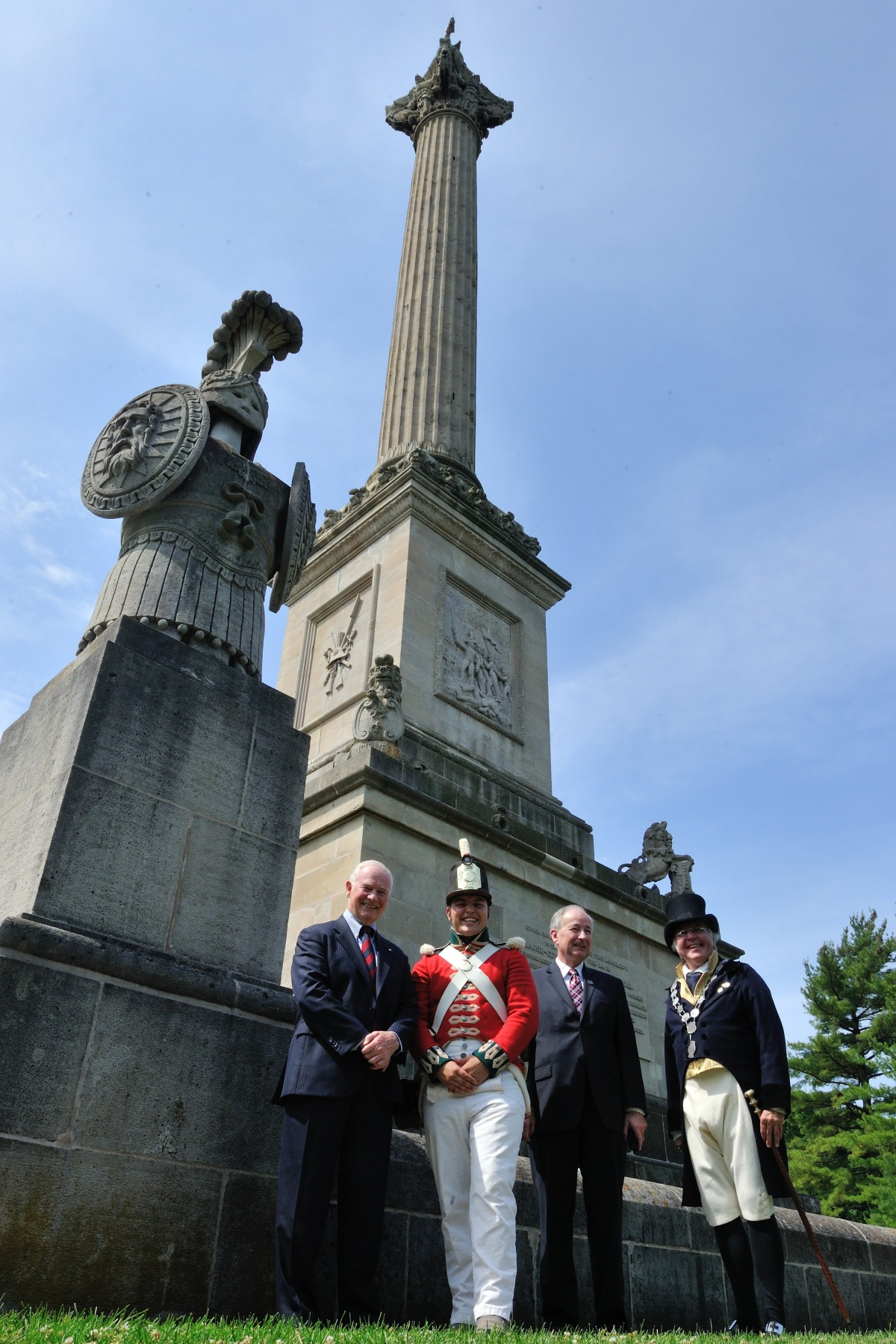 The Governor General then visited Brock's Monument, a 56-metre column dedicated to Major-General Sir Isaac Brock, one of Canada's heroes of the War of 1812, who died during the Battle of Queenston Heights. He was joined by Nathaniel Metherel Supervisor and Costume Interpreter the Honourable Rob Nicholson, Minister of Justice and His Worship Dave Eke, Lord Mayor of Niagara-on-the-Lake.