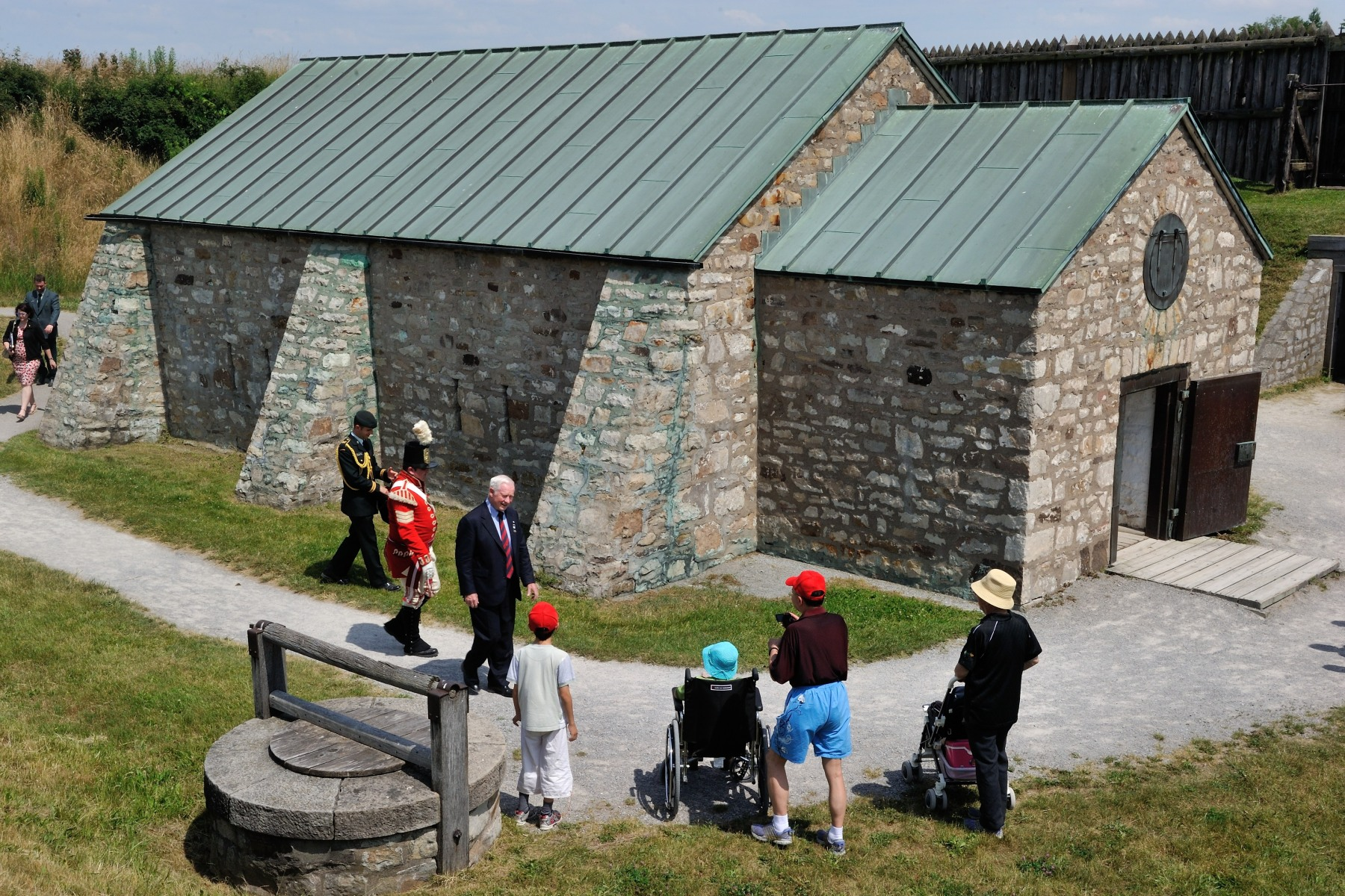 He also toured the powder magazine, the oldest surviving military building in Ontario.