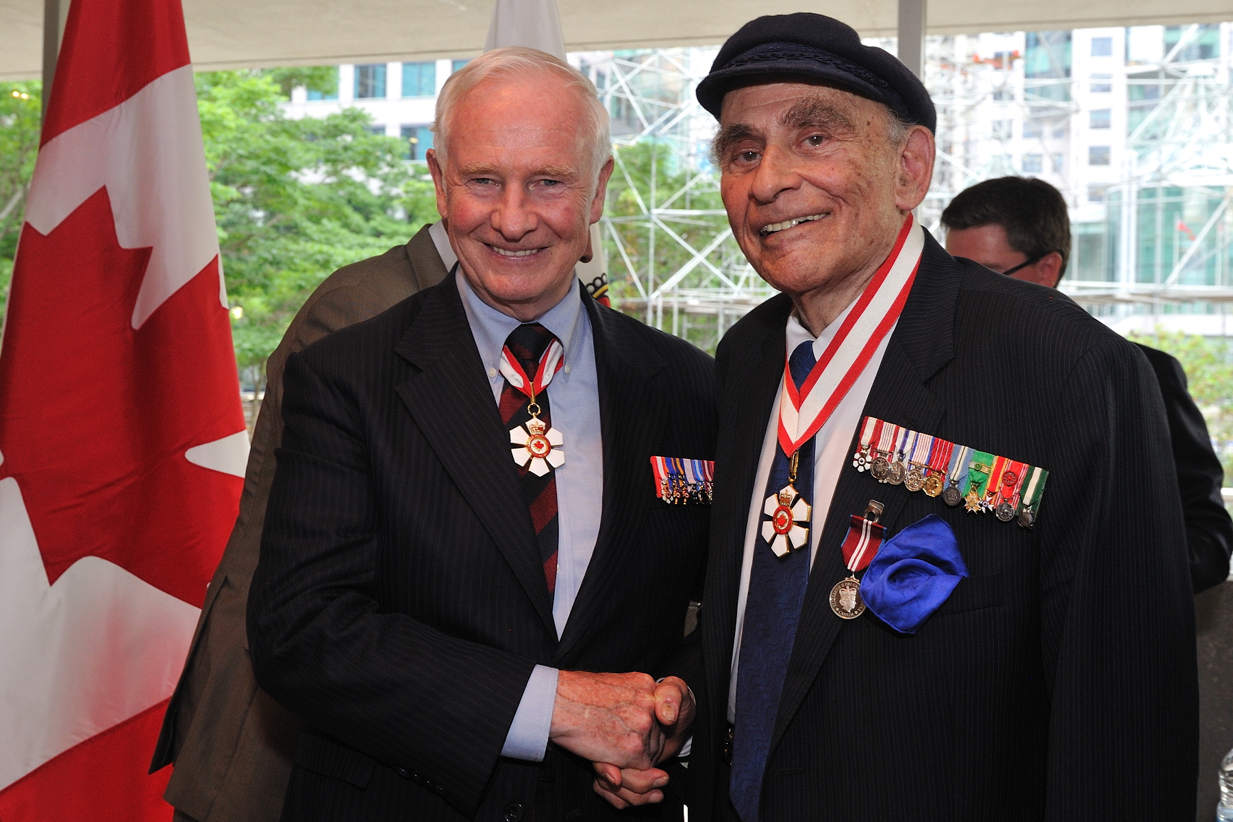 His Excellency also presented the Diamond Jubilee Medal to Peter C. Newman, C.C., renowned historian and biographer and Companion of the Order of Canada.