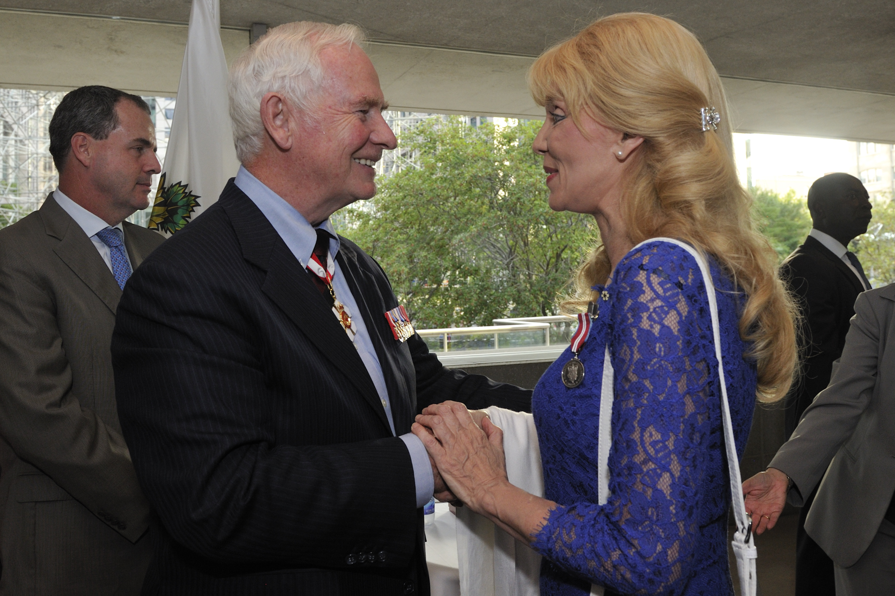 Liona Boyd, C.M., interpreter and virtuoso performer of classical works and Member of the Order of Canada, was also presented with the Diamond Jubilee Medal.