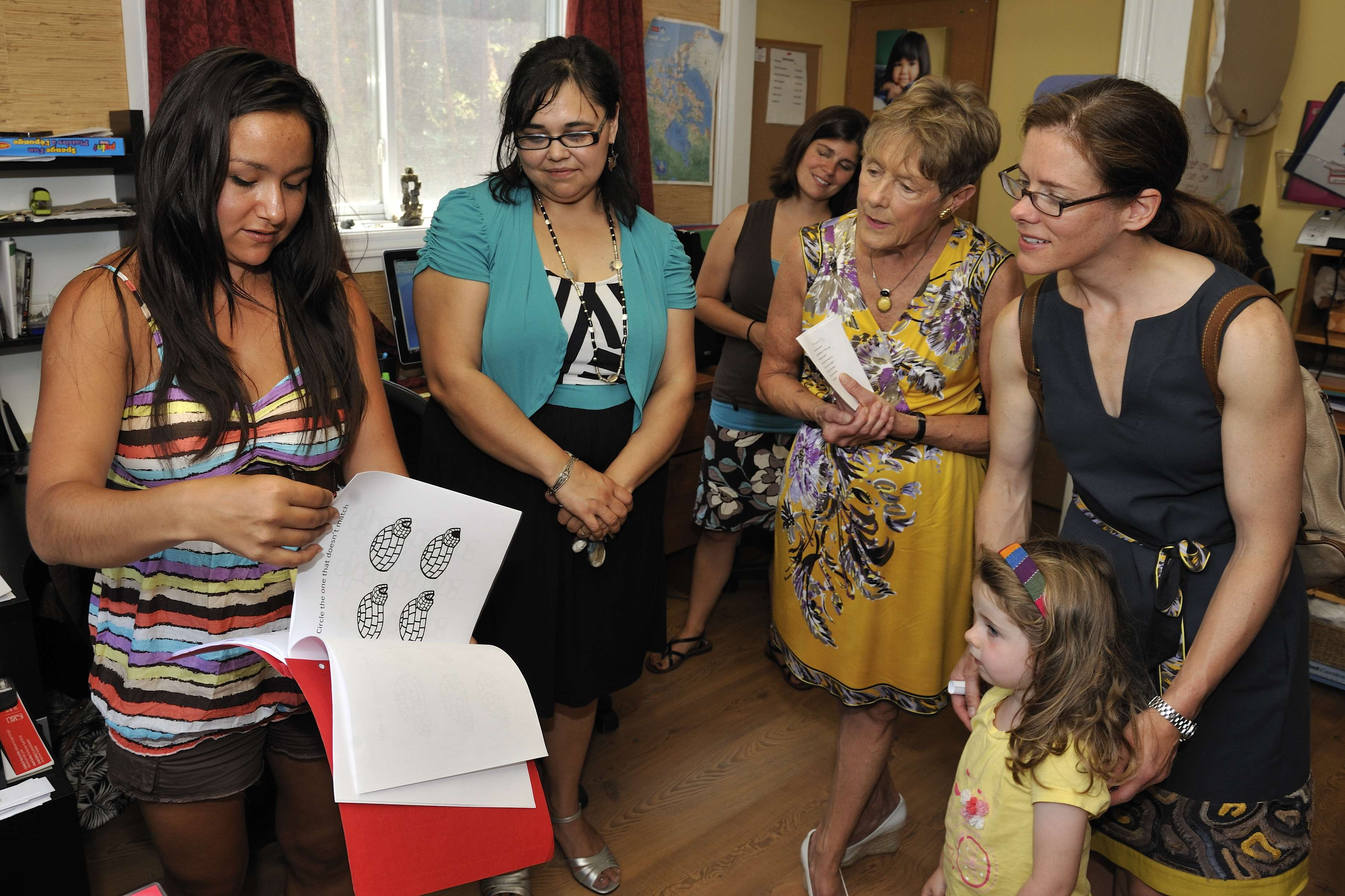 During that time, Her Excellency Sharon Johnston visited the Ottawa Inuit Children's Centre.